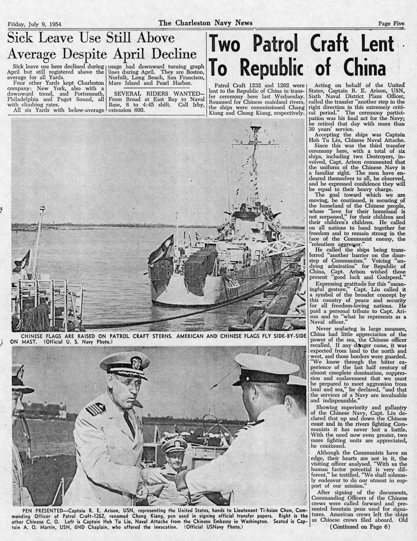 The Charleston Navy News, Volume 13, Edition 1, page v