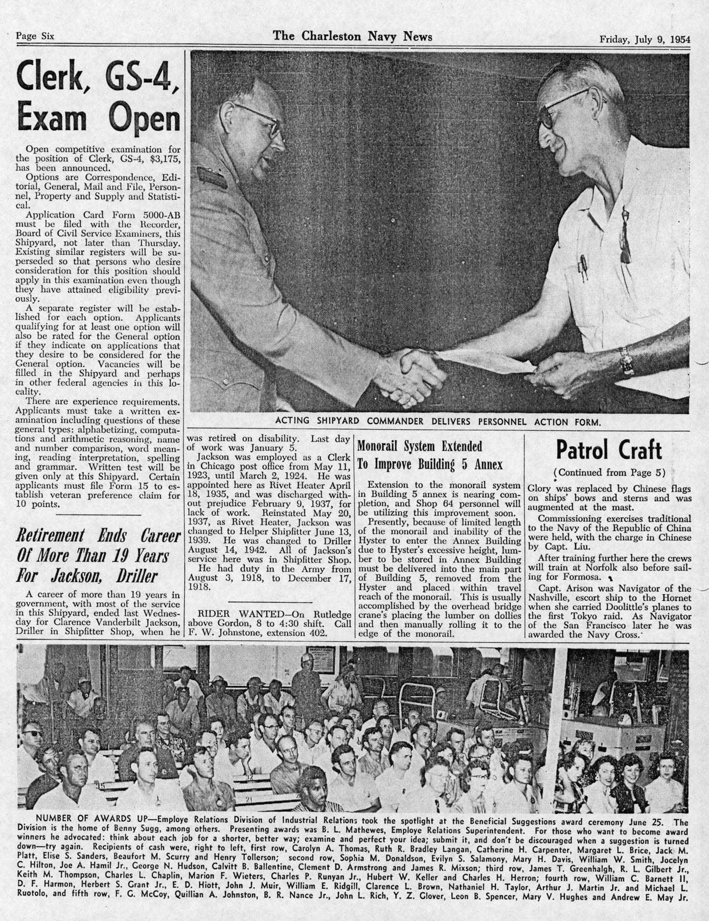 The Charleston Navy News, Volume 13, Edition 1, page vi