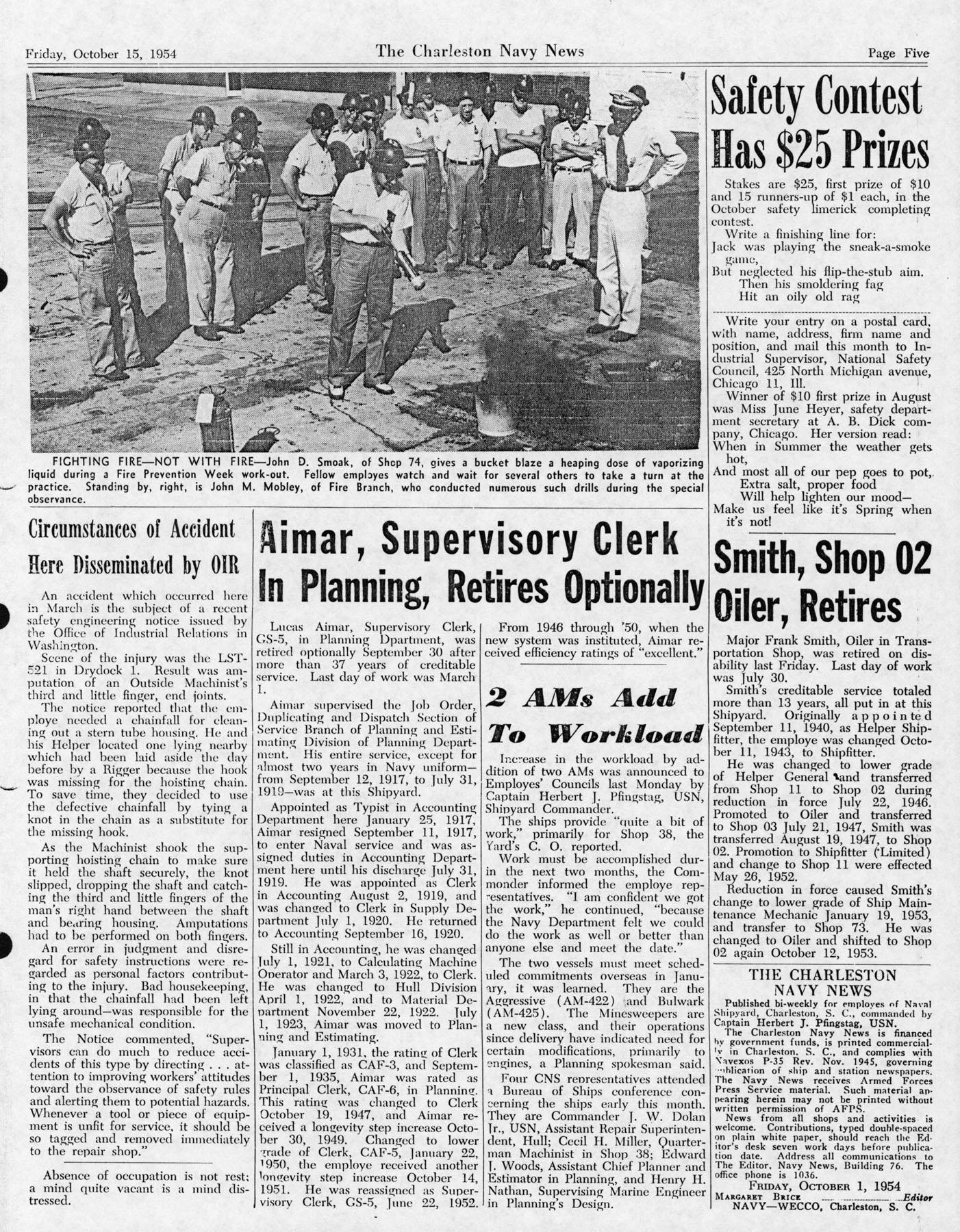 The Charleston Navy News, Volume 13, Edition 7, page v