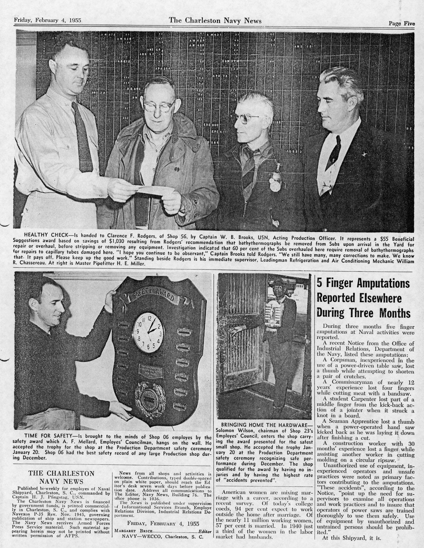 The Charleston Navy News, Volume 13, Edition 15, page v