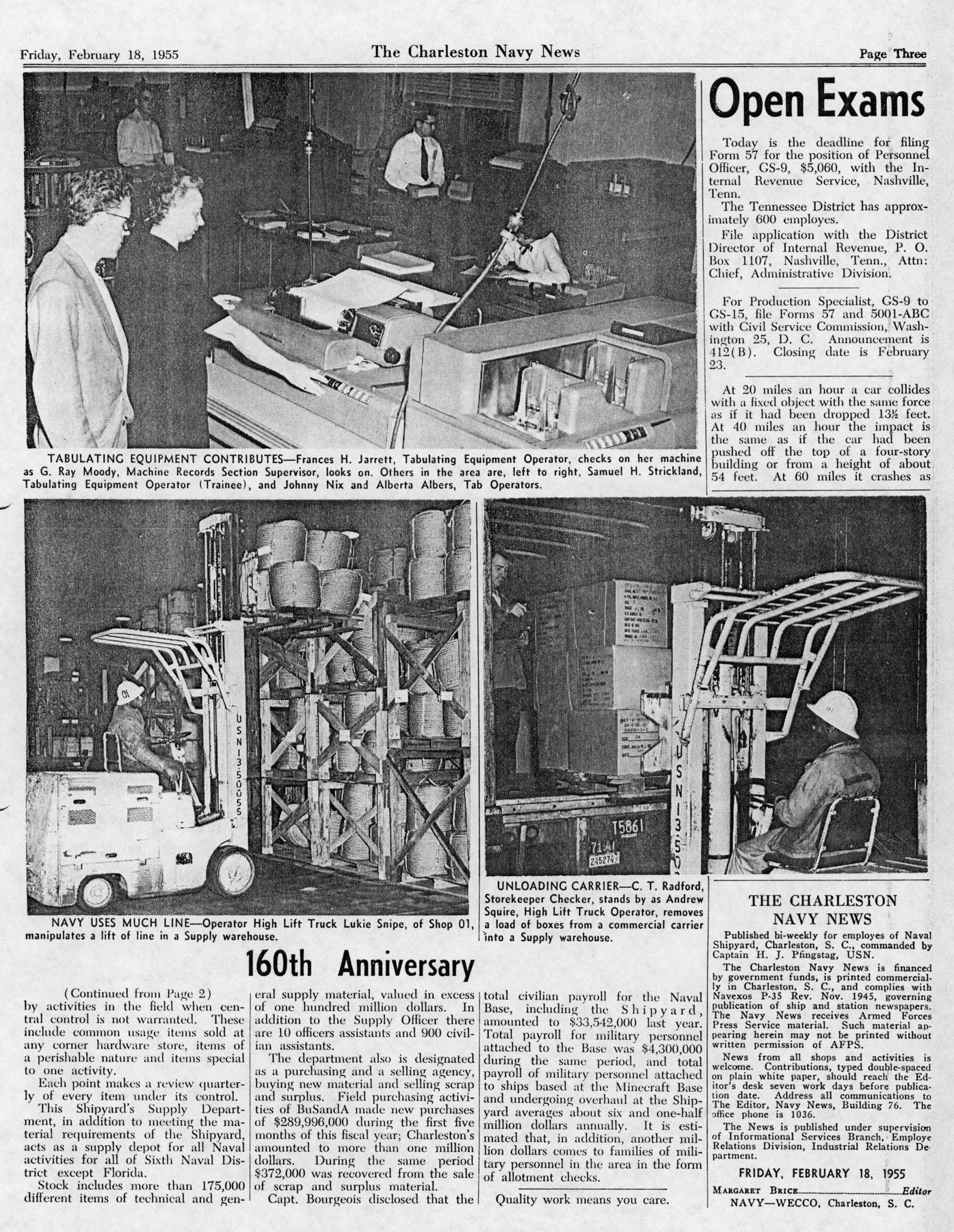 The Charleston Navy News, Volume 13, Edition 16, page iii