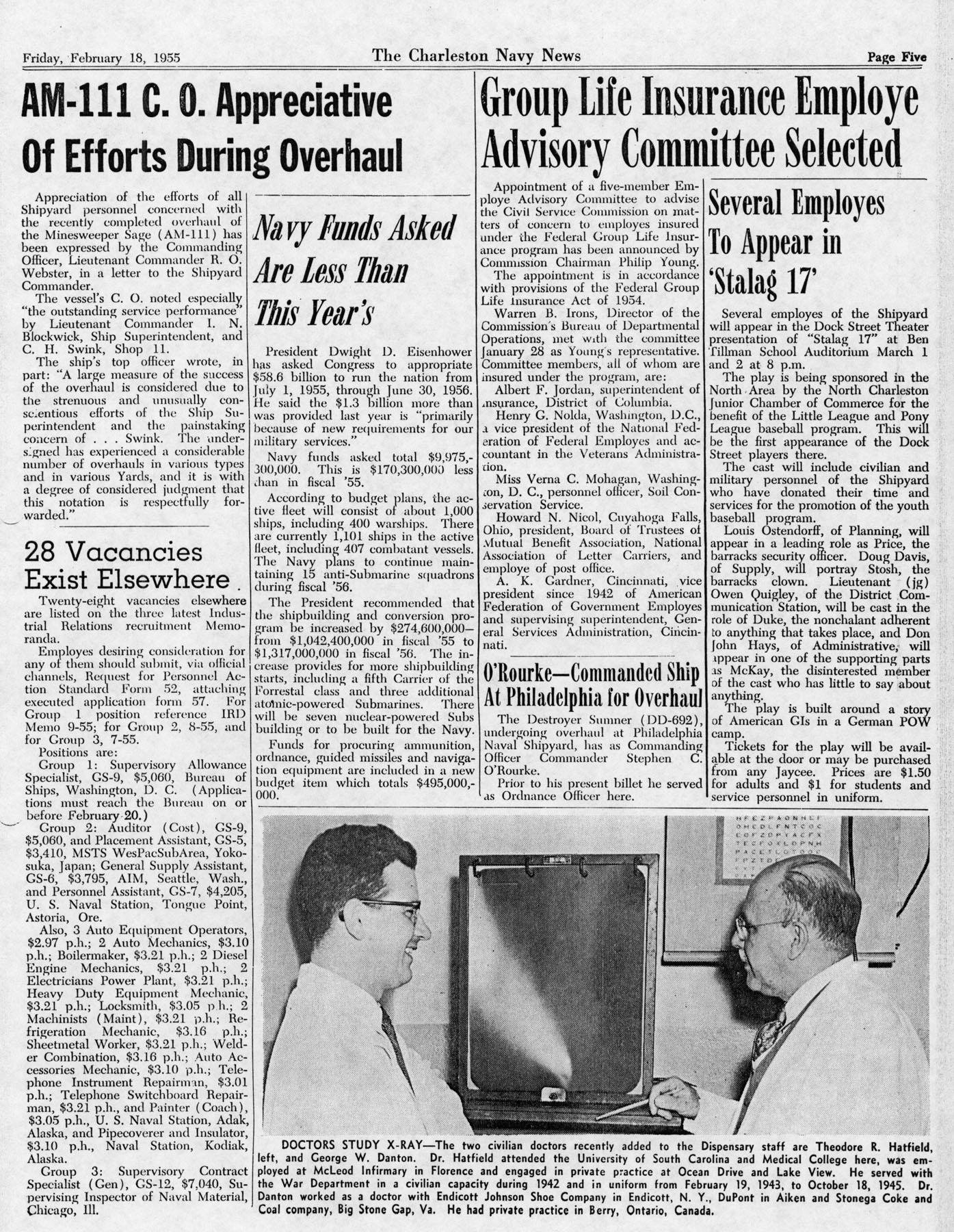 The Charleston Navy News, Volume 13, Edition 16, page v