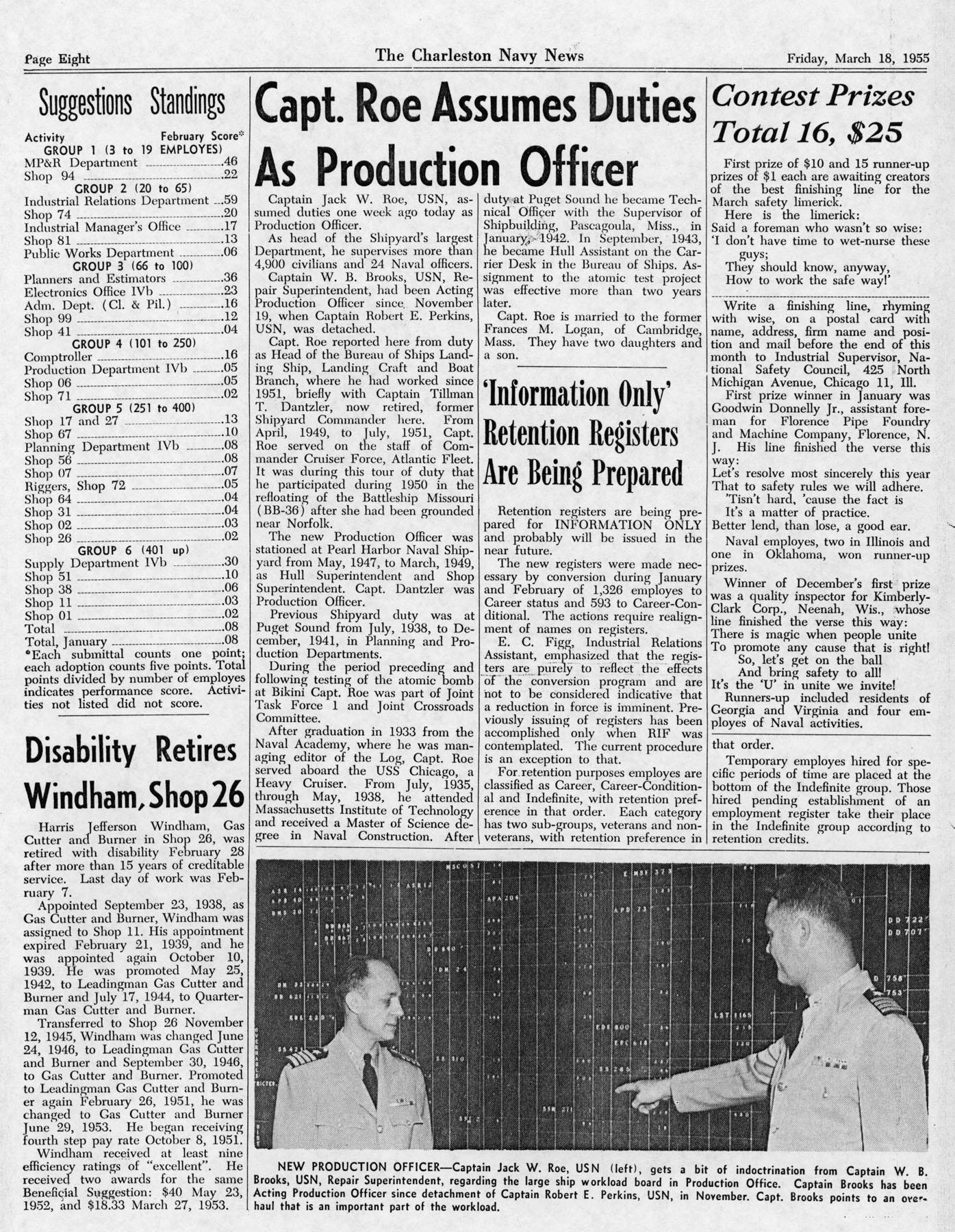The Charleston Navy News, Volume 13, Edition 18, page viii
