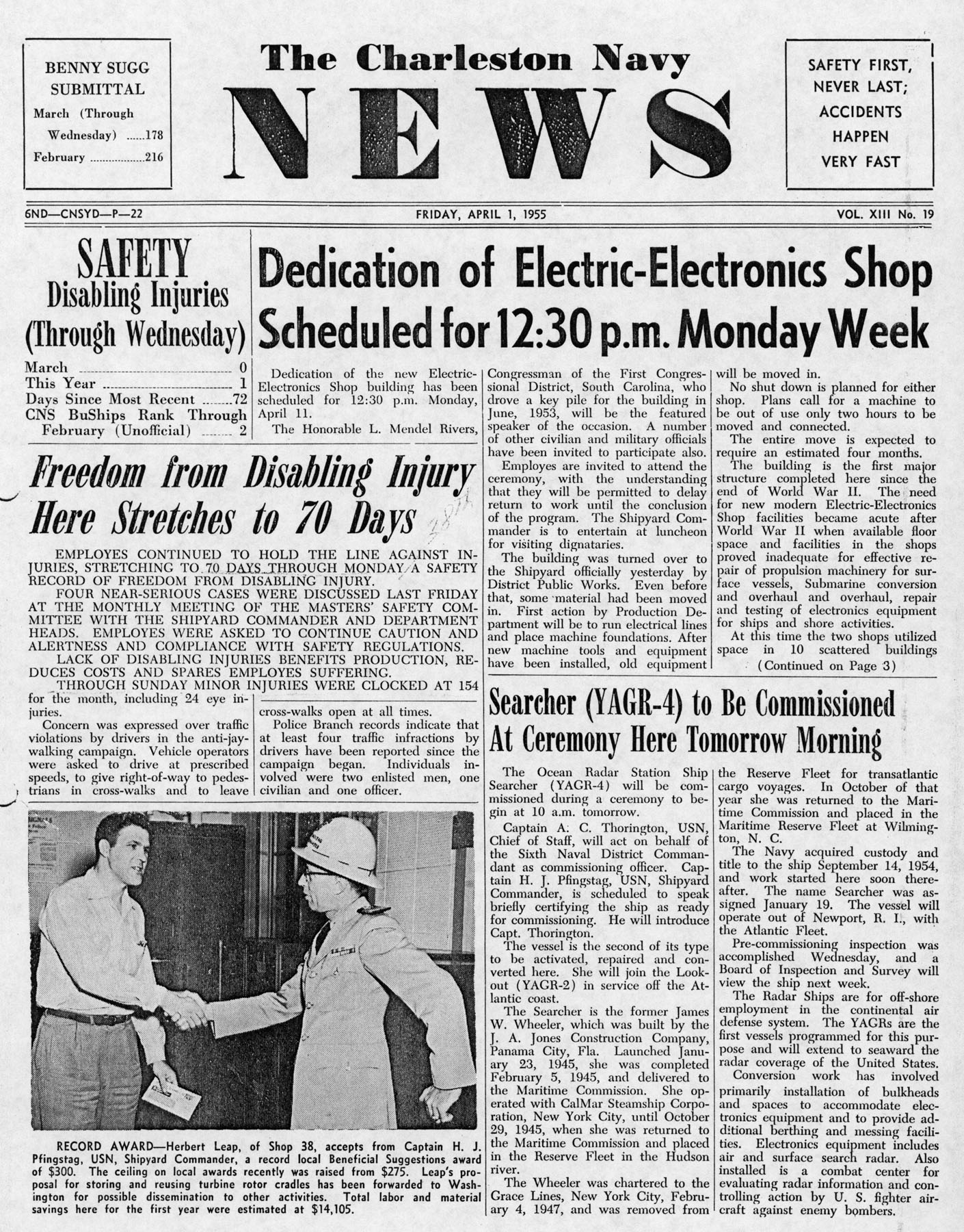 The Charleston Navy News, Volume 13, Edition 19, page i