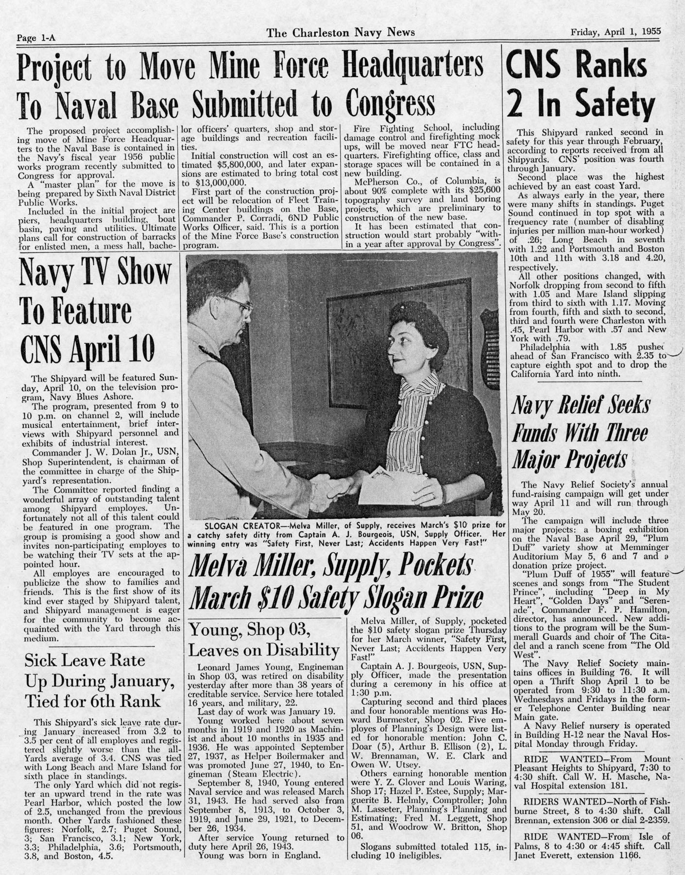 The Charleston Navy News, Volume 13, Edition 19, page ia