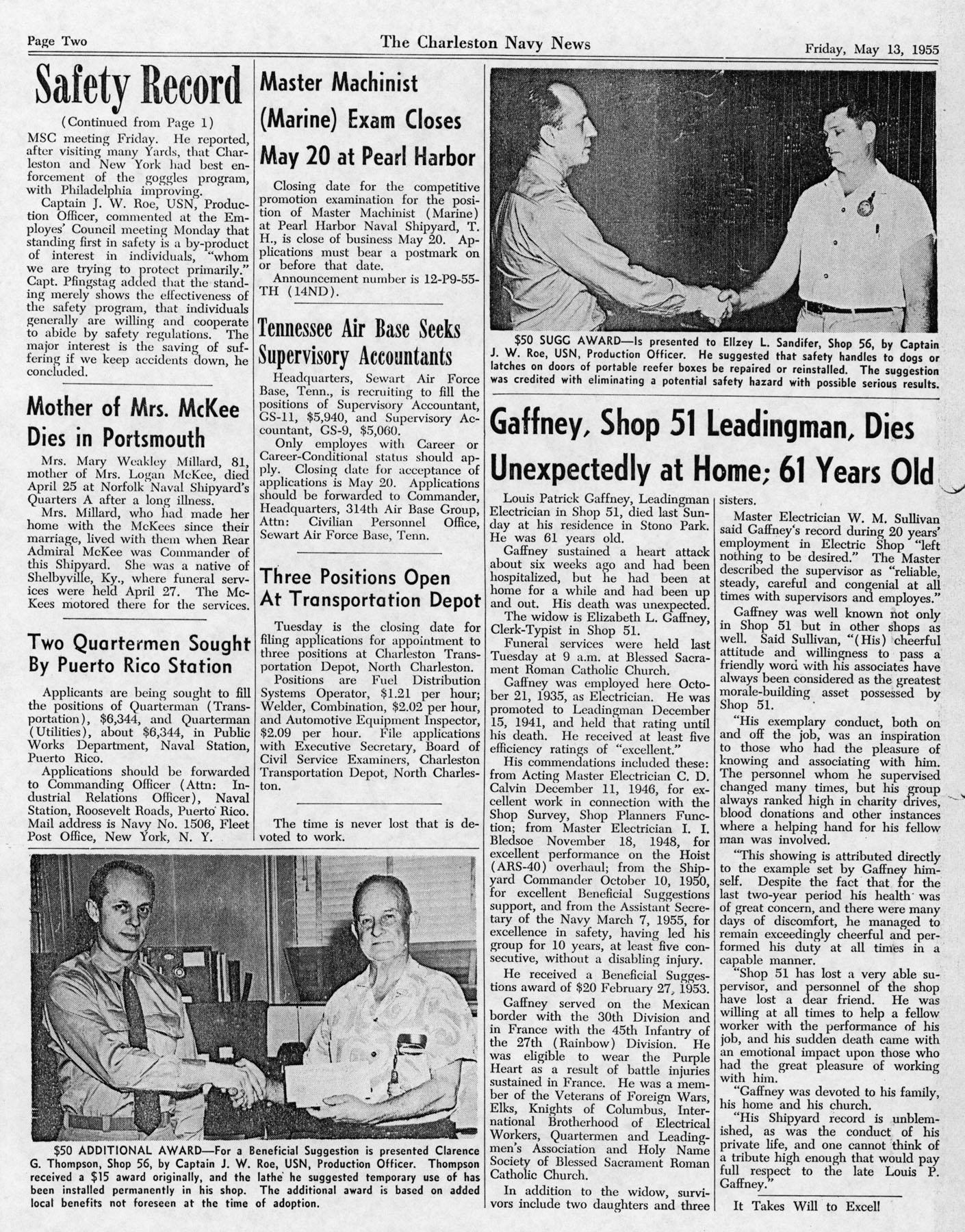 The Charleston Navy News, Volume 13, Edition 22, page ii