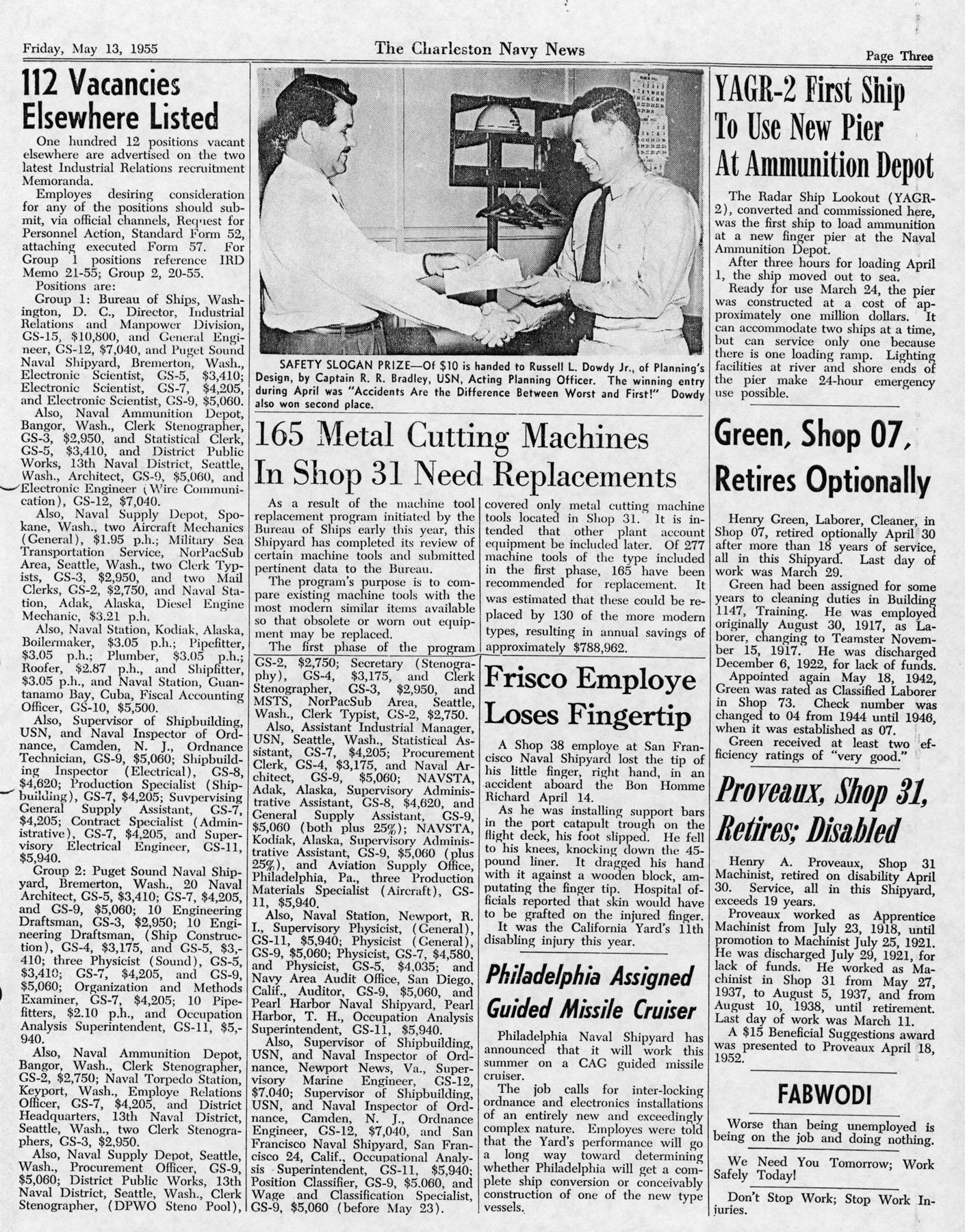 The Charleston Navy News, Volume 13, Edition 22, page iii