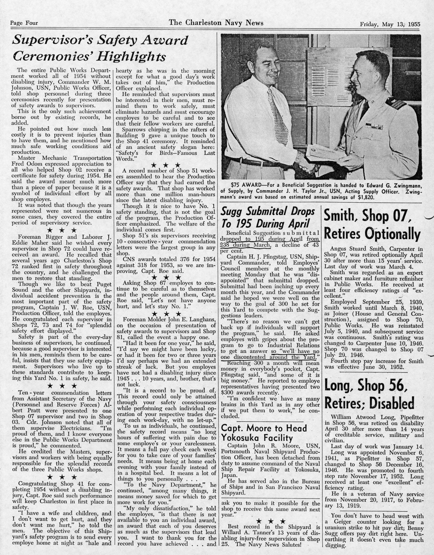 The Charleston Navy News, Volume 13, Edition 22, page iv