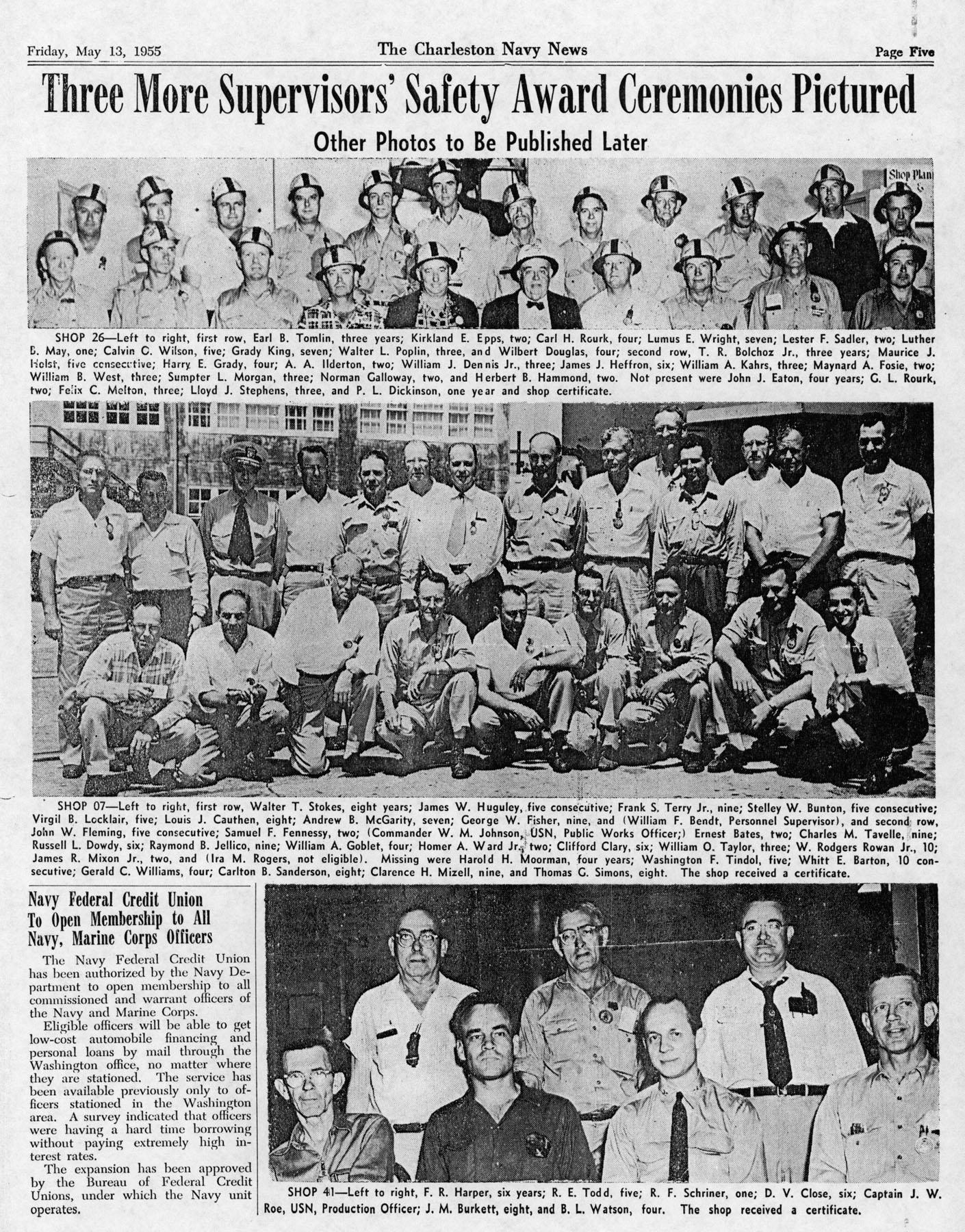 The Charleston Navy News, Volume 13, Edition 22, page v