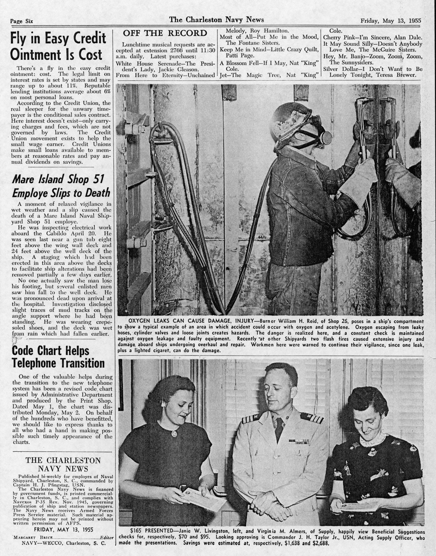 The Charleston Navy News, Volume 13, Edition 22, page vi