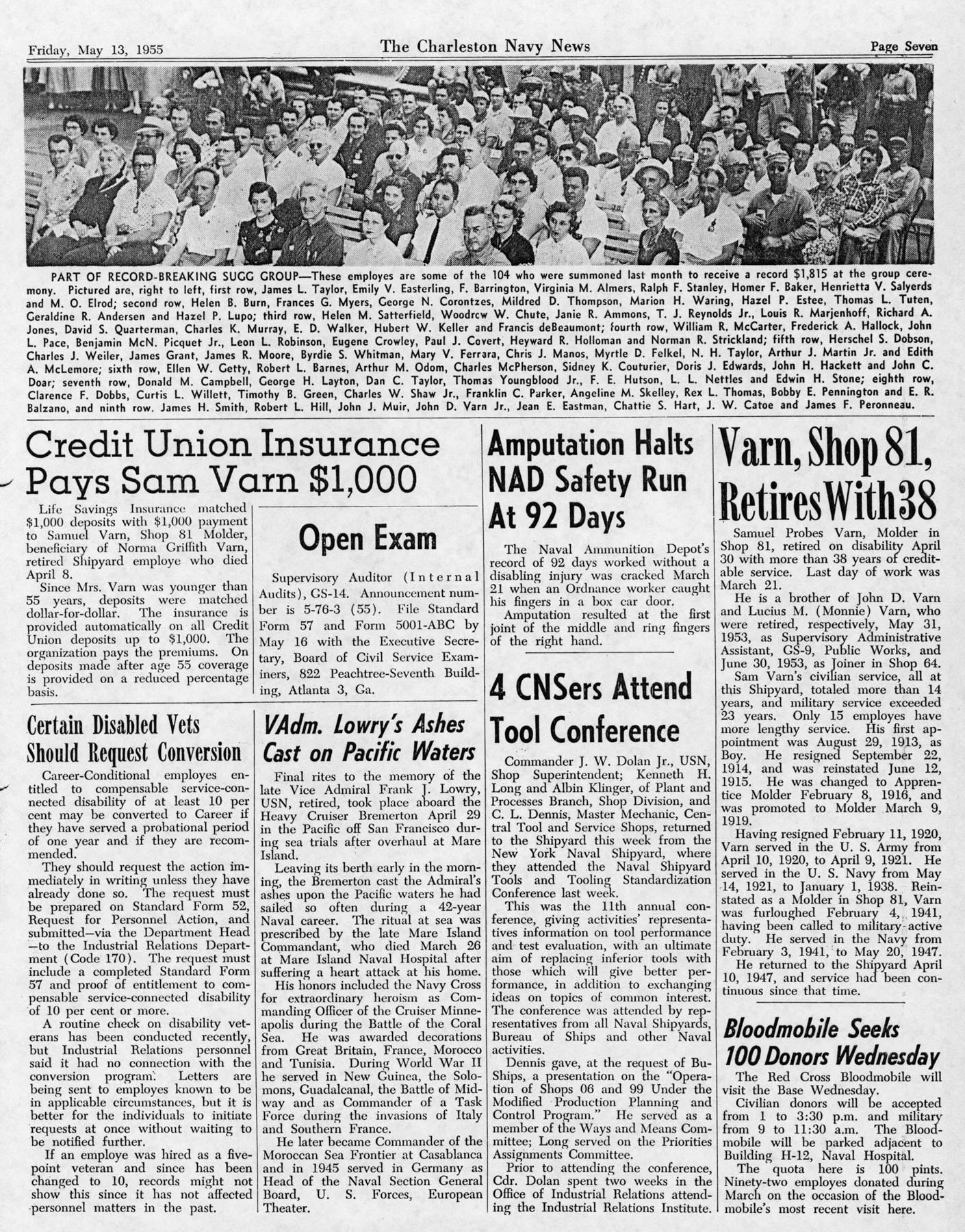 The Charleston Navy News, Volume 13, Edition 22, page vii