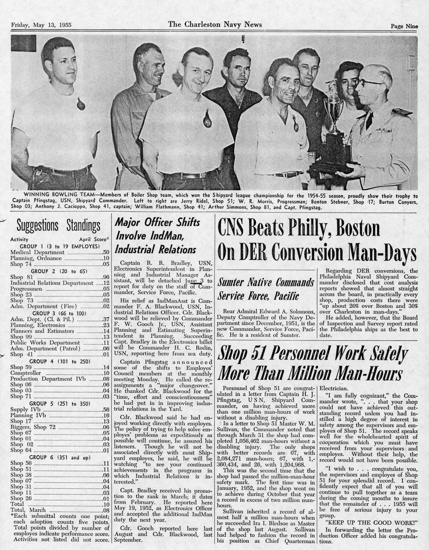 The Charleston Navy News, Volume 13, Edition 22, page ix