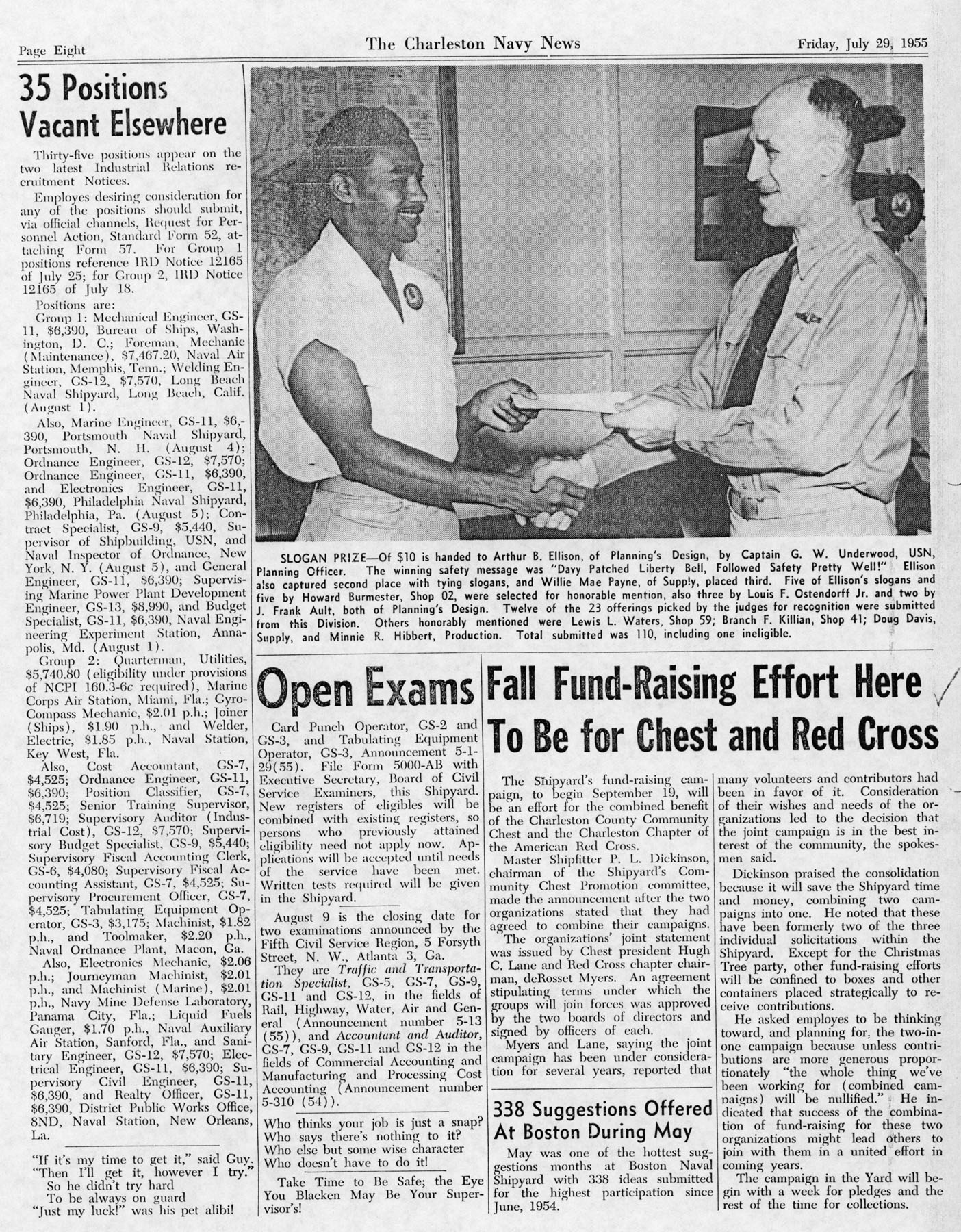 The Charleston Navy News, Volume 14, Edition 1, page viii