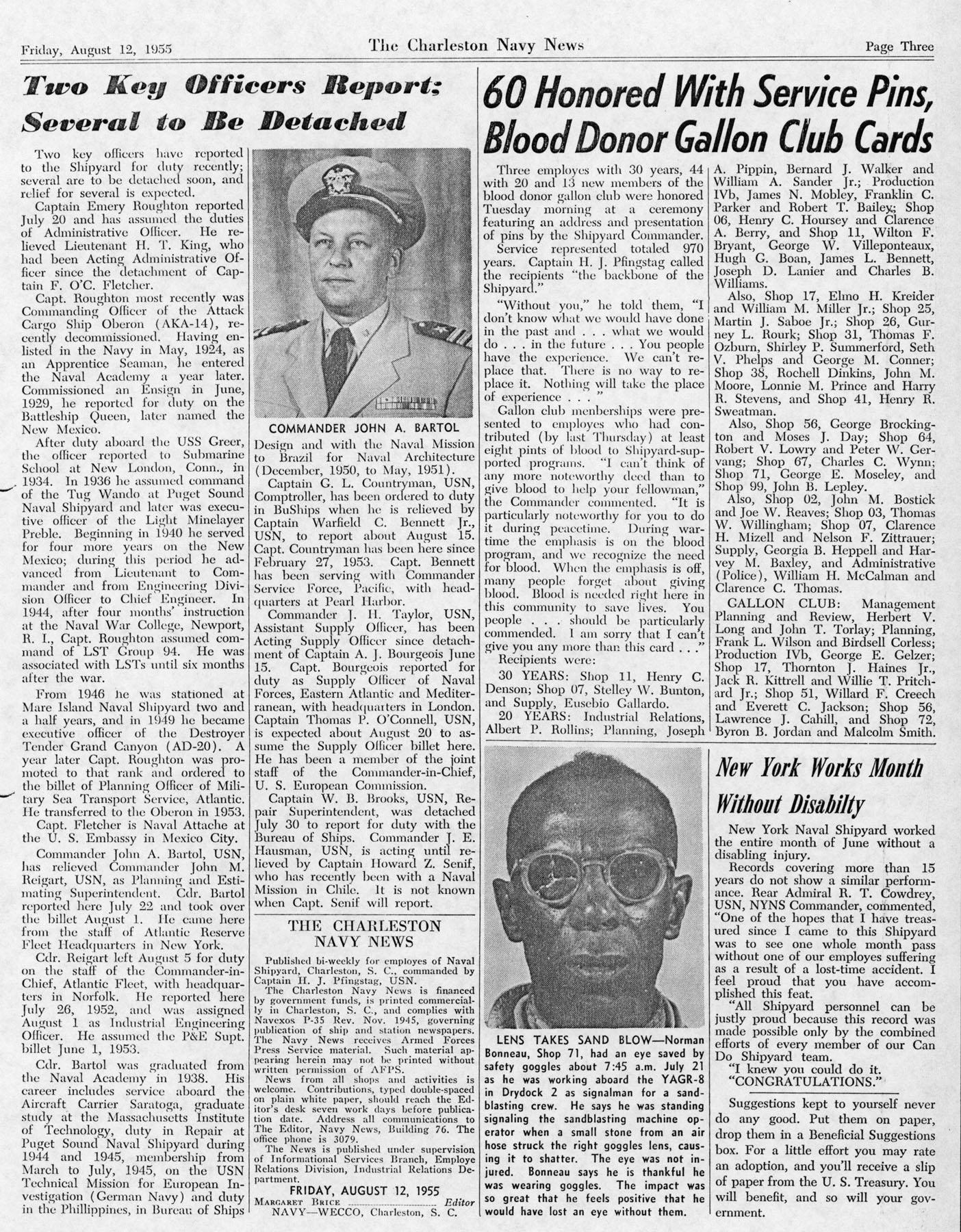 The Charleston Navy News, Volume 14, Edition 2, page iii