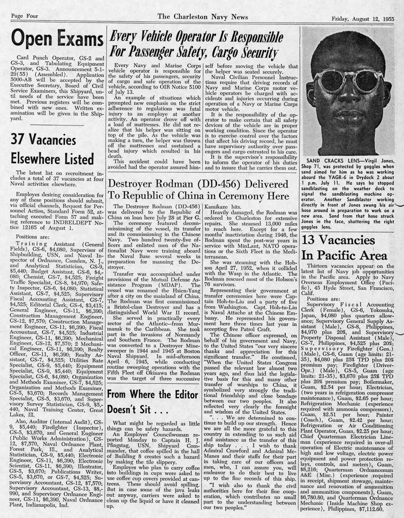 The Charleston Navy News, Volume 14, Edition 2, page iv