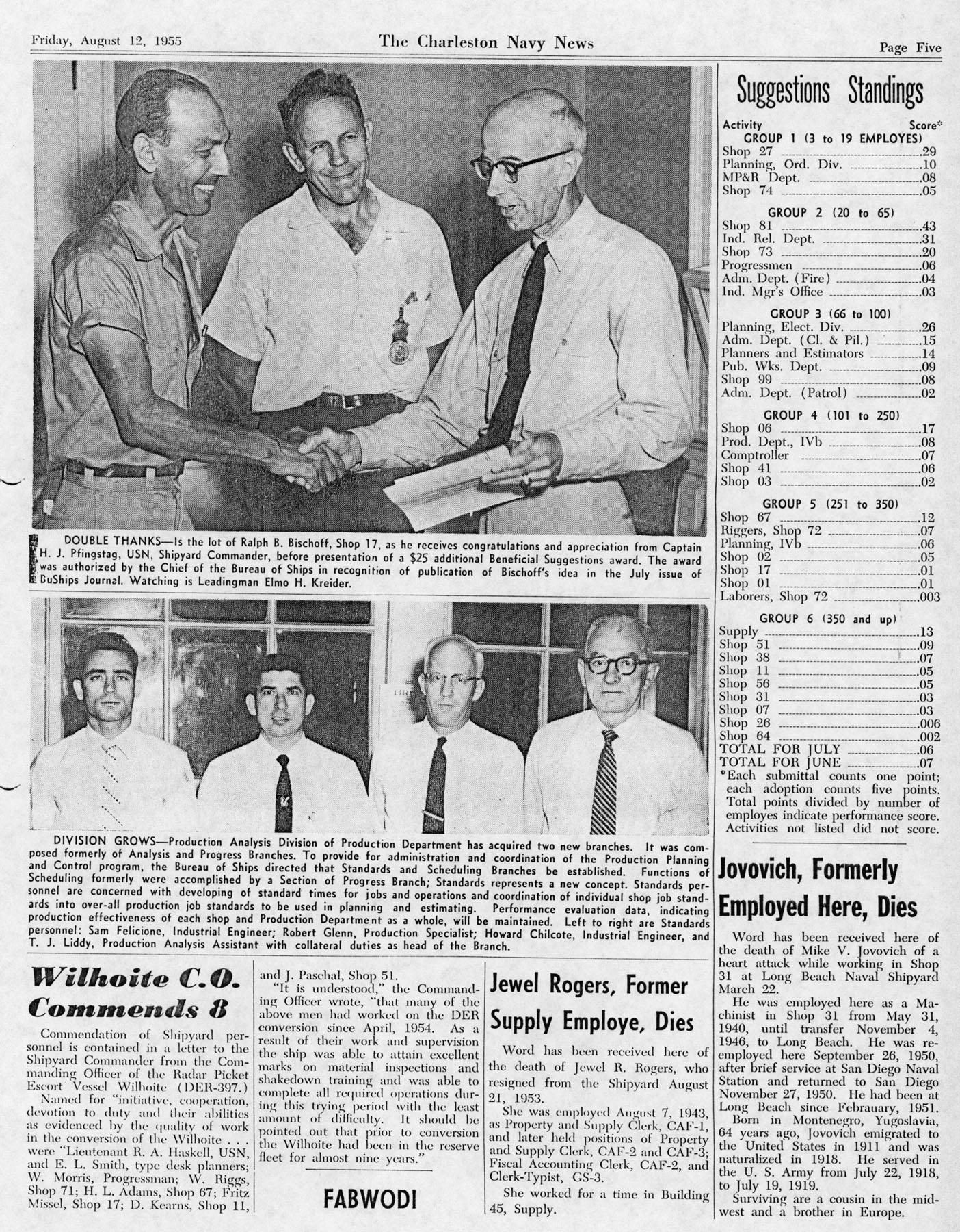 The Charleston Navy News, Volume 14, Edition 2, page v