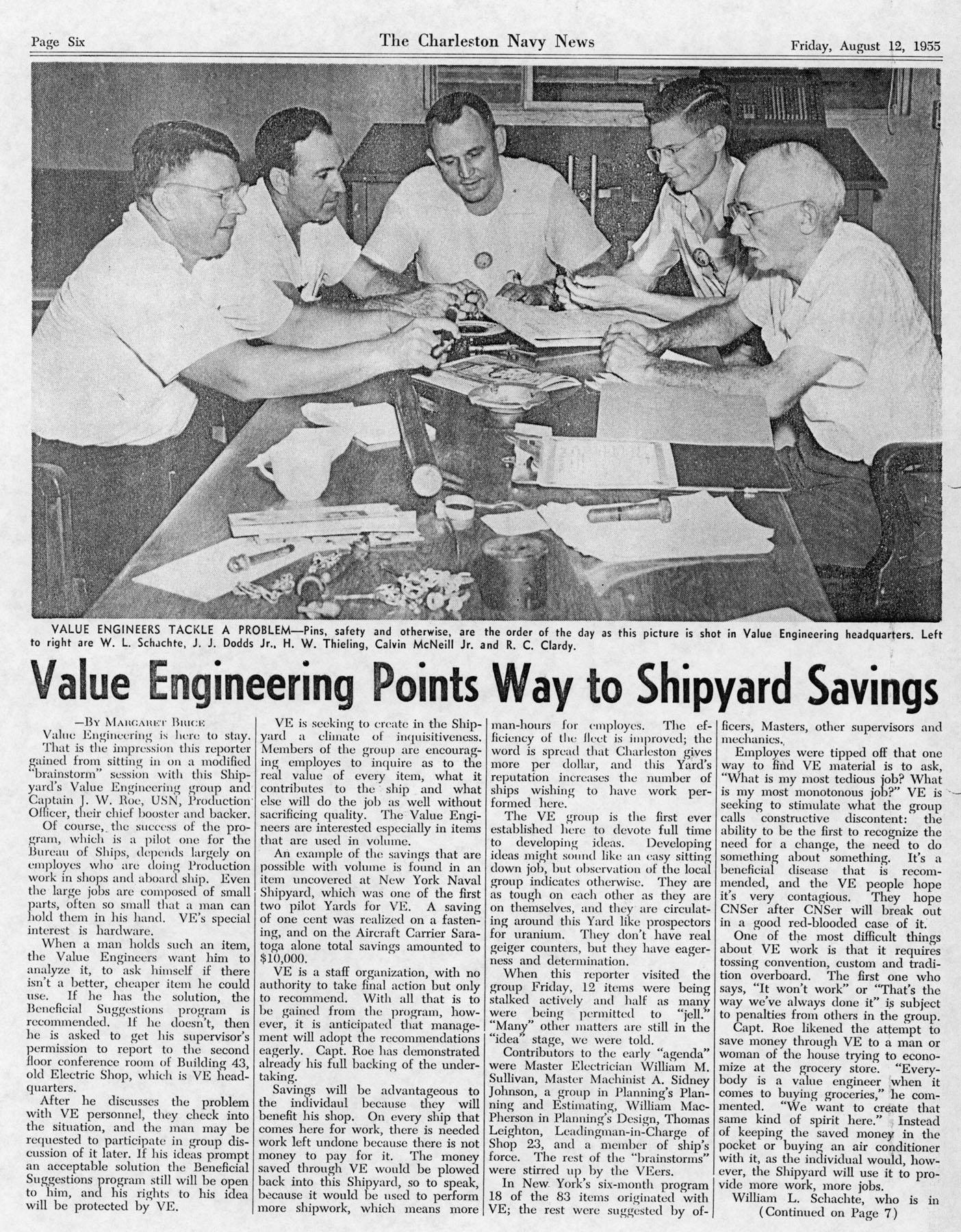 The Charleston Navy News, Volume 14, Edition 2, page vi