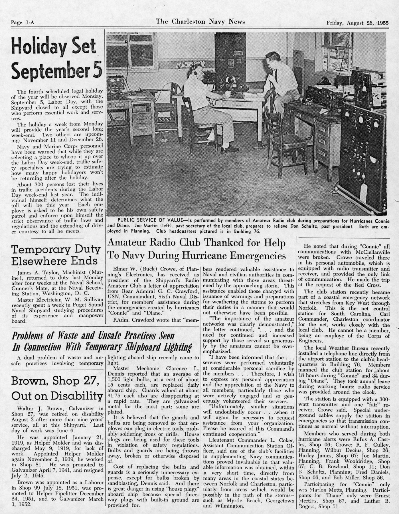 The Charleston Navy News, Volume 14, Edition 3, page ia