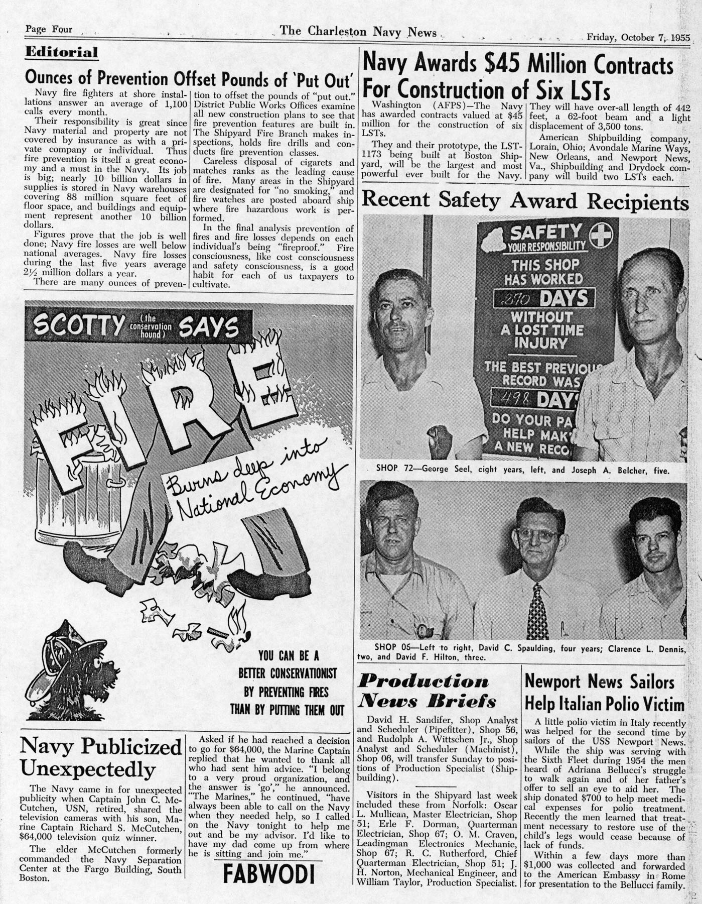 The Charleston Navy News, Volume 14, Edition 6, page iv