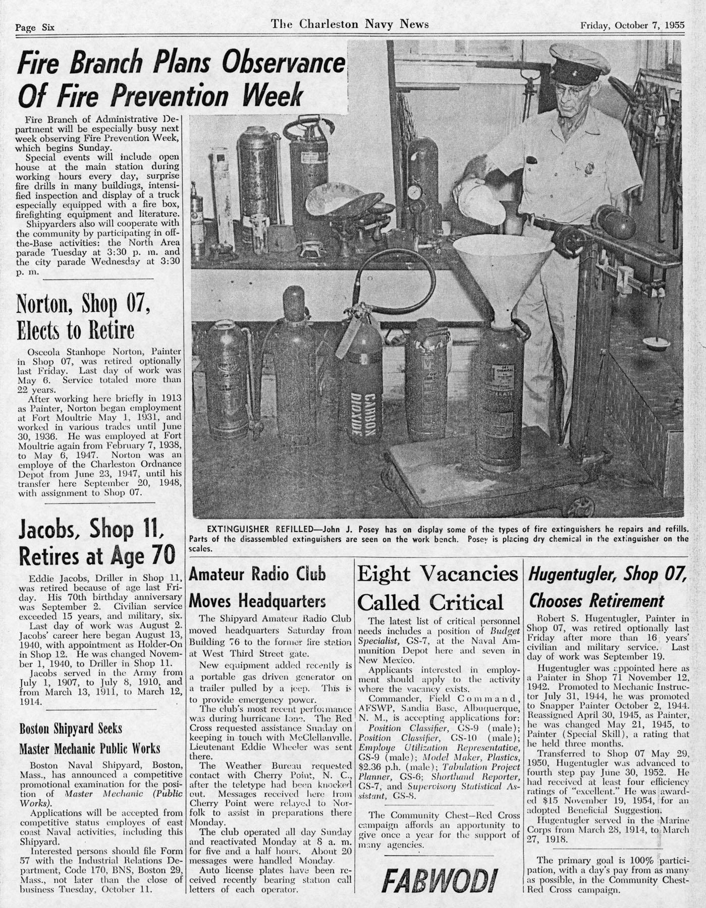 The Charleston Navy News, Volume 14, Edition 6, page vi