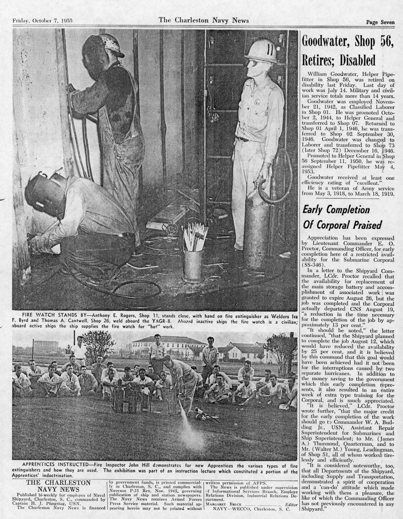 The Charleston Navy News, Volume 14, Edition 6, page vii