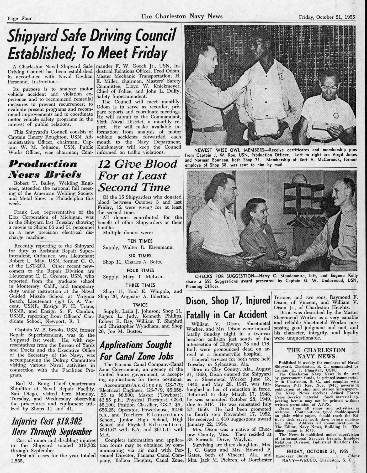 The Charleston Navy News, Volume 14, Edition 7, page iv