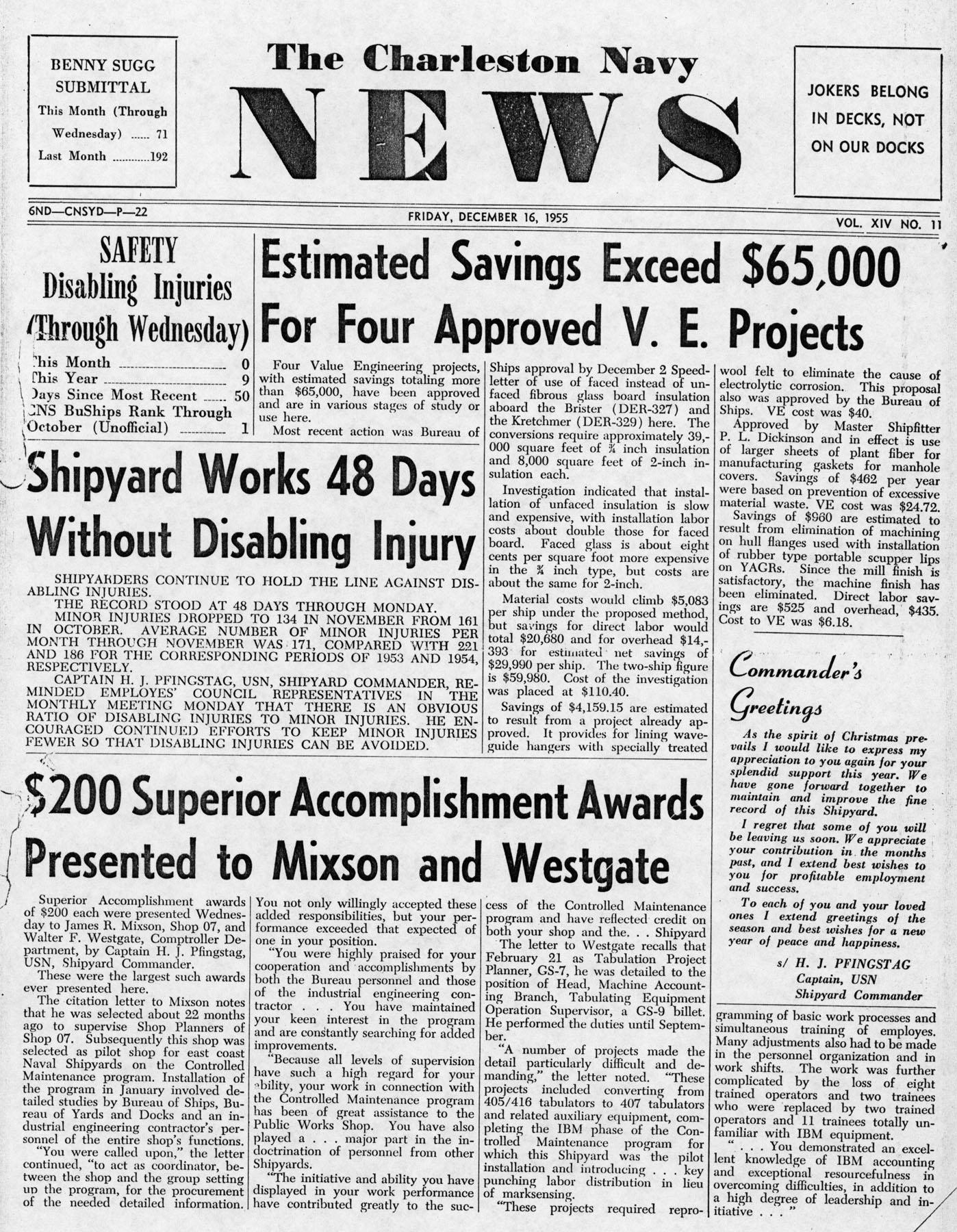The Charleston Navy News, Volume 14, Edition 11, page i