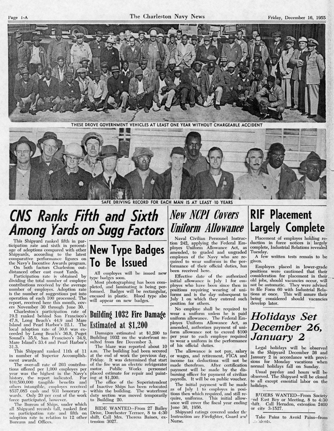 The Charleston Navy News. Volume 14, Edition 11, page ia
