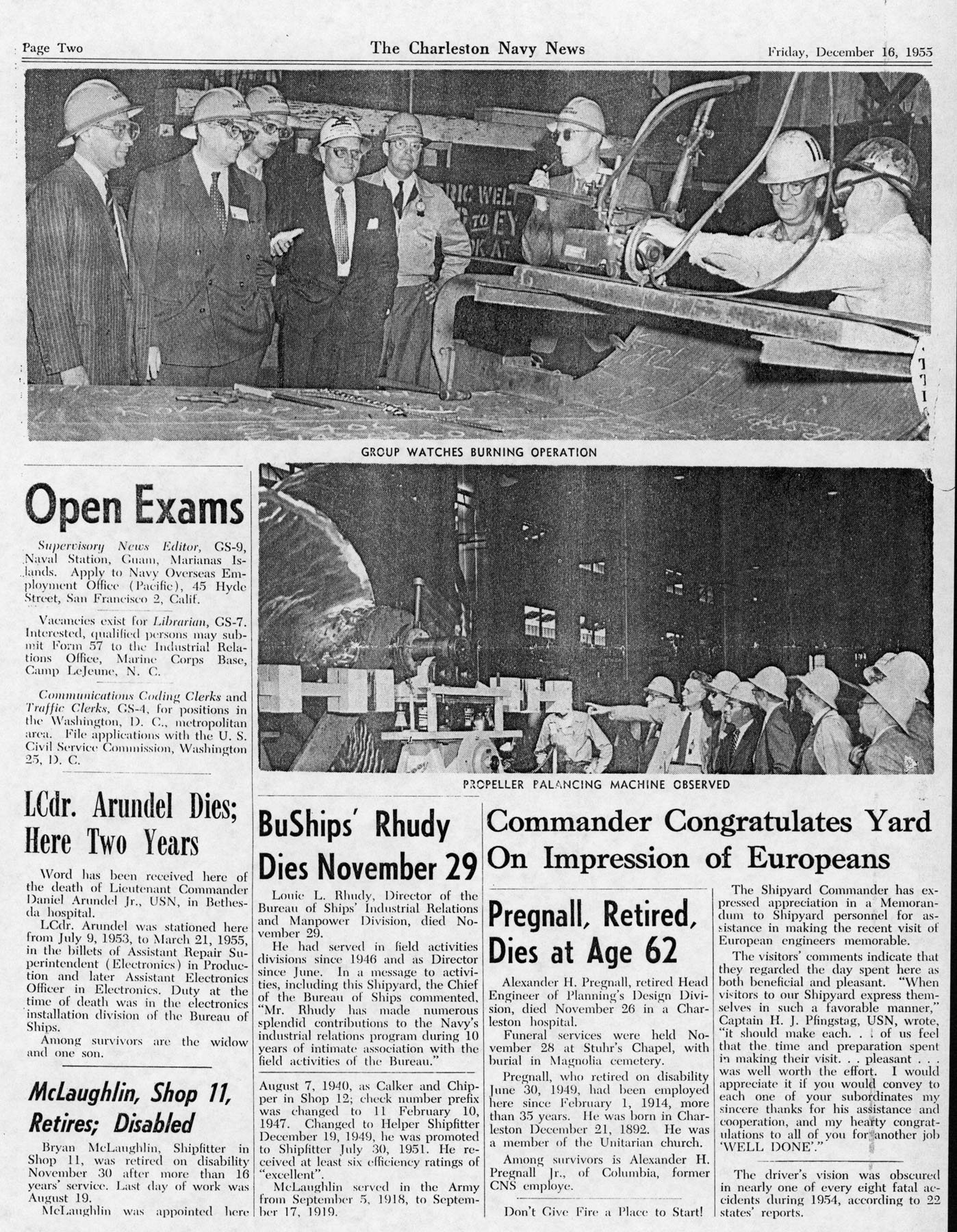 The Charleston Navy News, Volume 14, Edition 11, page ii