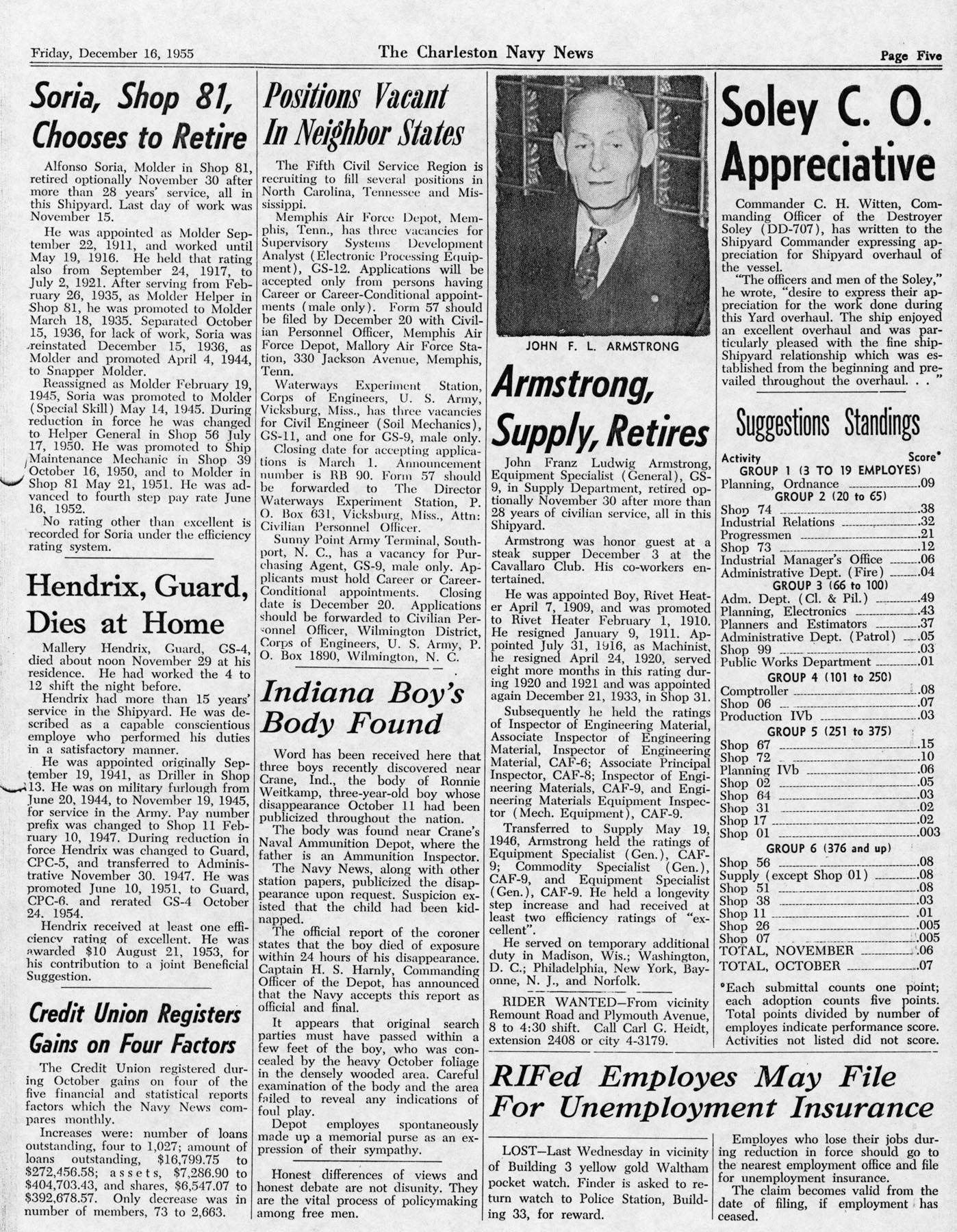 The Charleston Navy News, Volume 14, Edition 11, page v