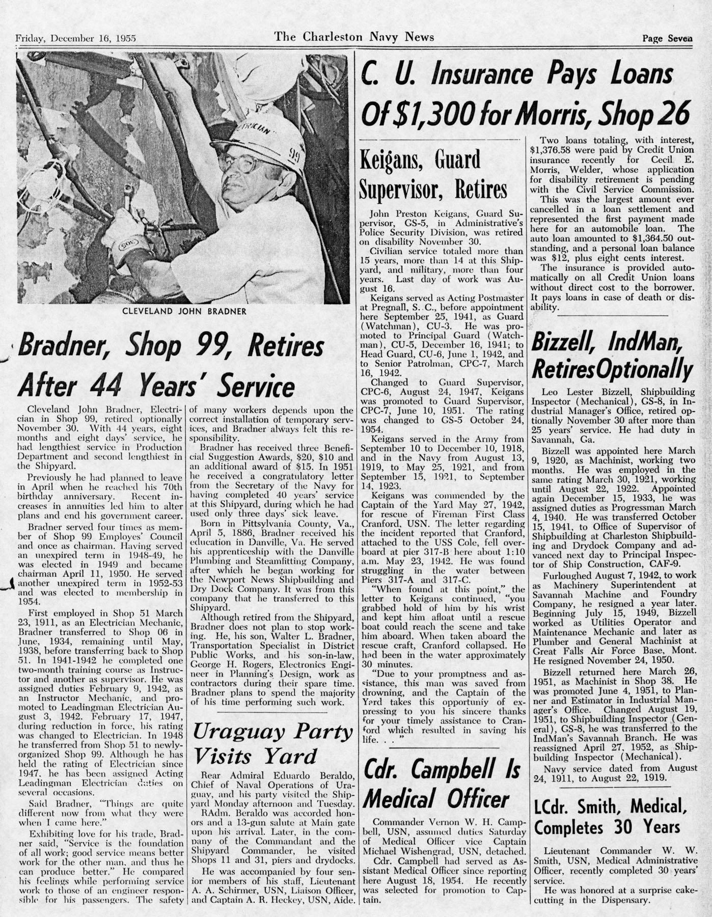 The Charleston Navy News, Volume 14, Edition 11, page vii