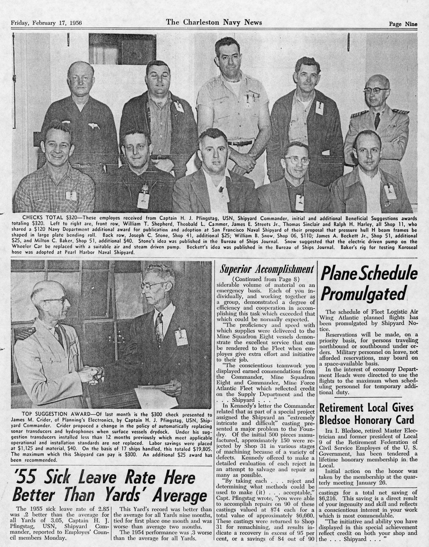 The Charleston Navy News, Volume 14, Edition 15, page ix