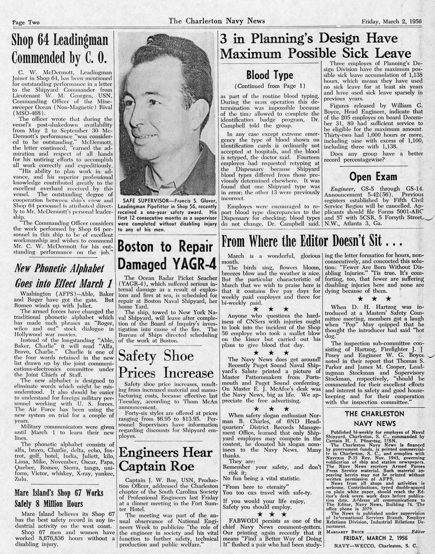 The Charleston Navy News, Volume 14, Edition 16, page ii