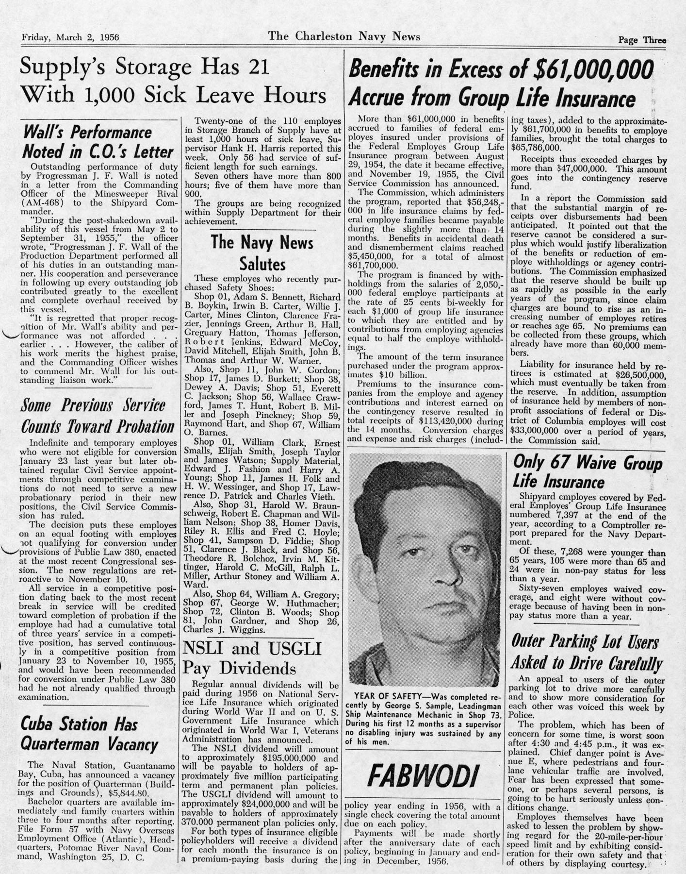 The Charleston Navy News, Volume 14, Edition 16, page iii