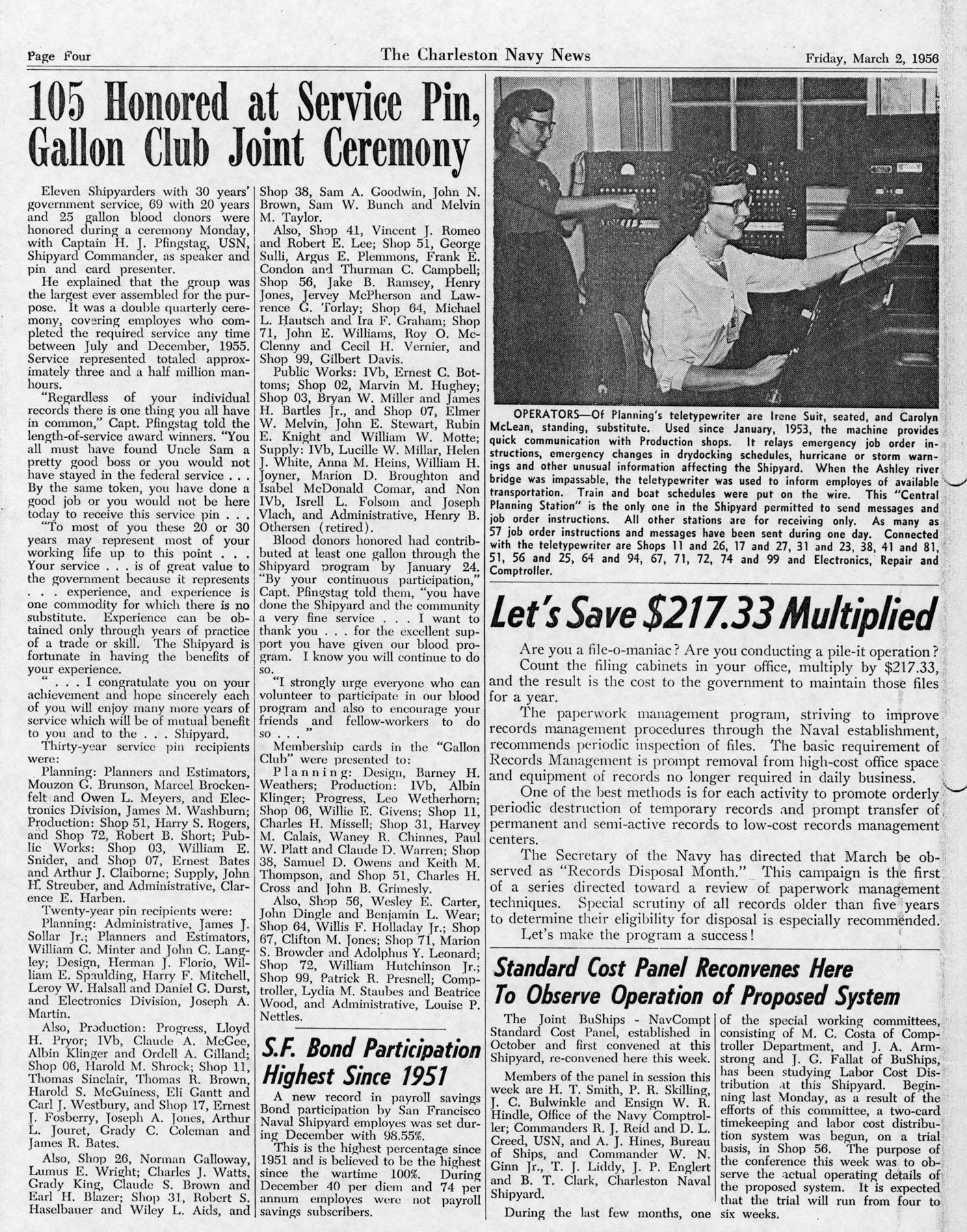 The Charleston Navy News, Volume 14, Edition 16, page iv