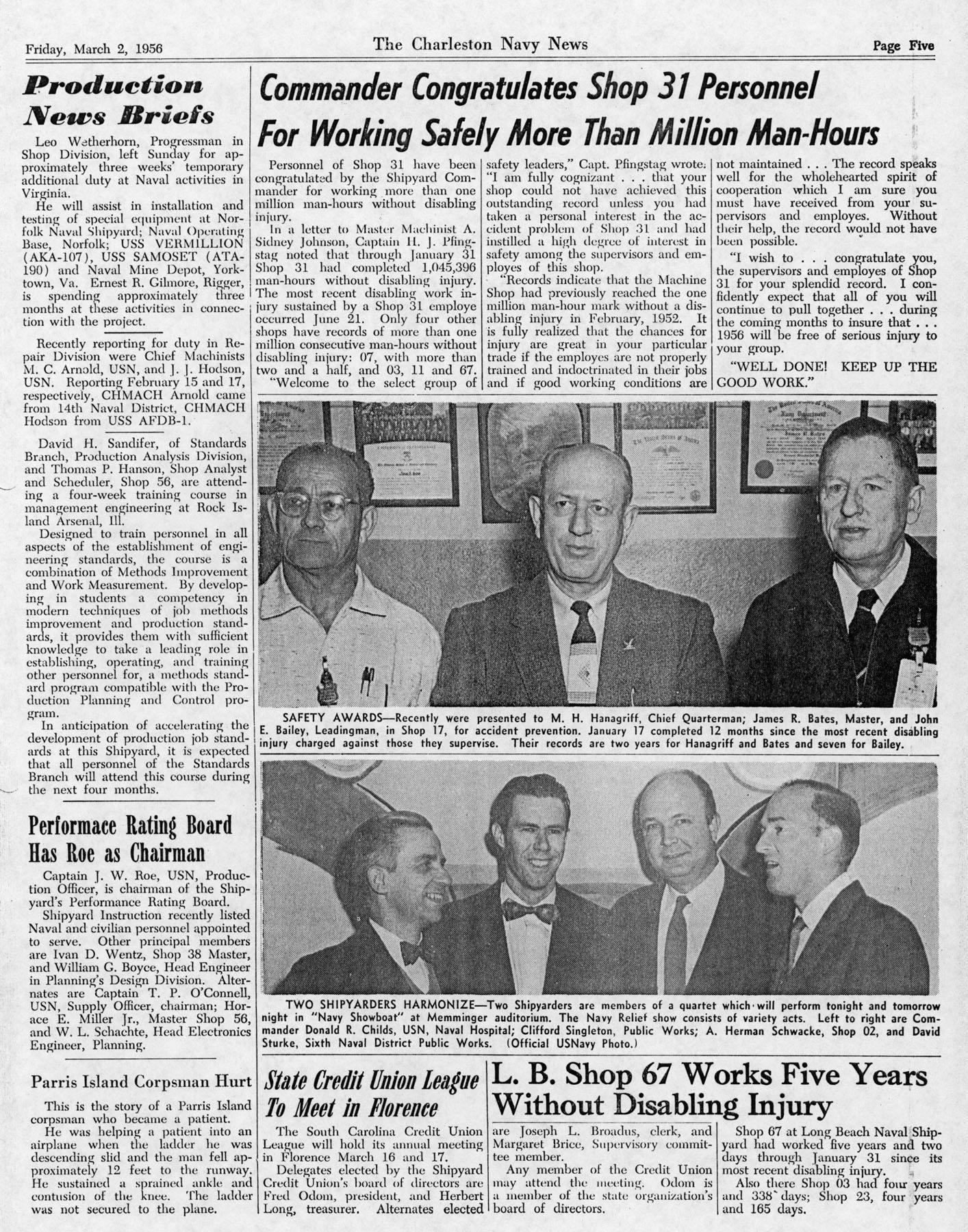 The Charleston Navy News, Volume 14, Edition 16, page v