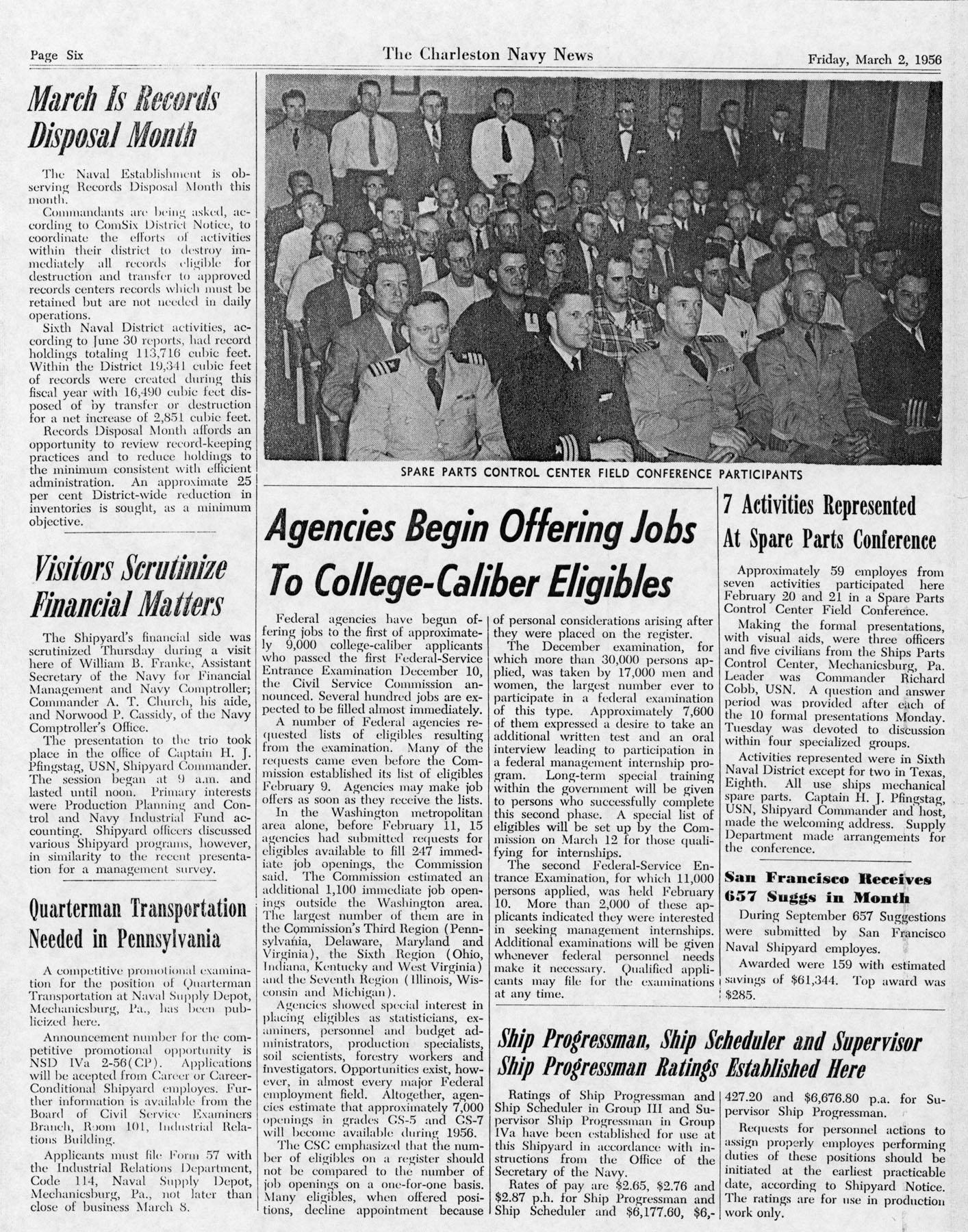 The Charleston Navy News, Volume 14, Edition 16, page vi
