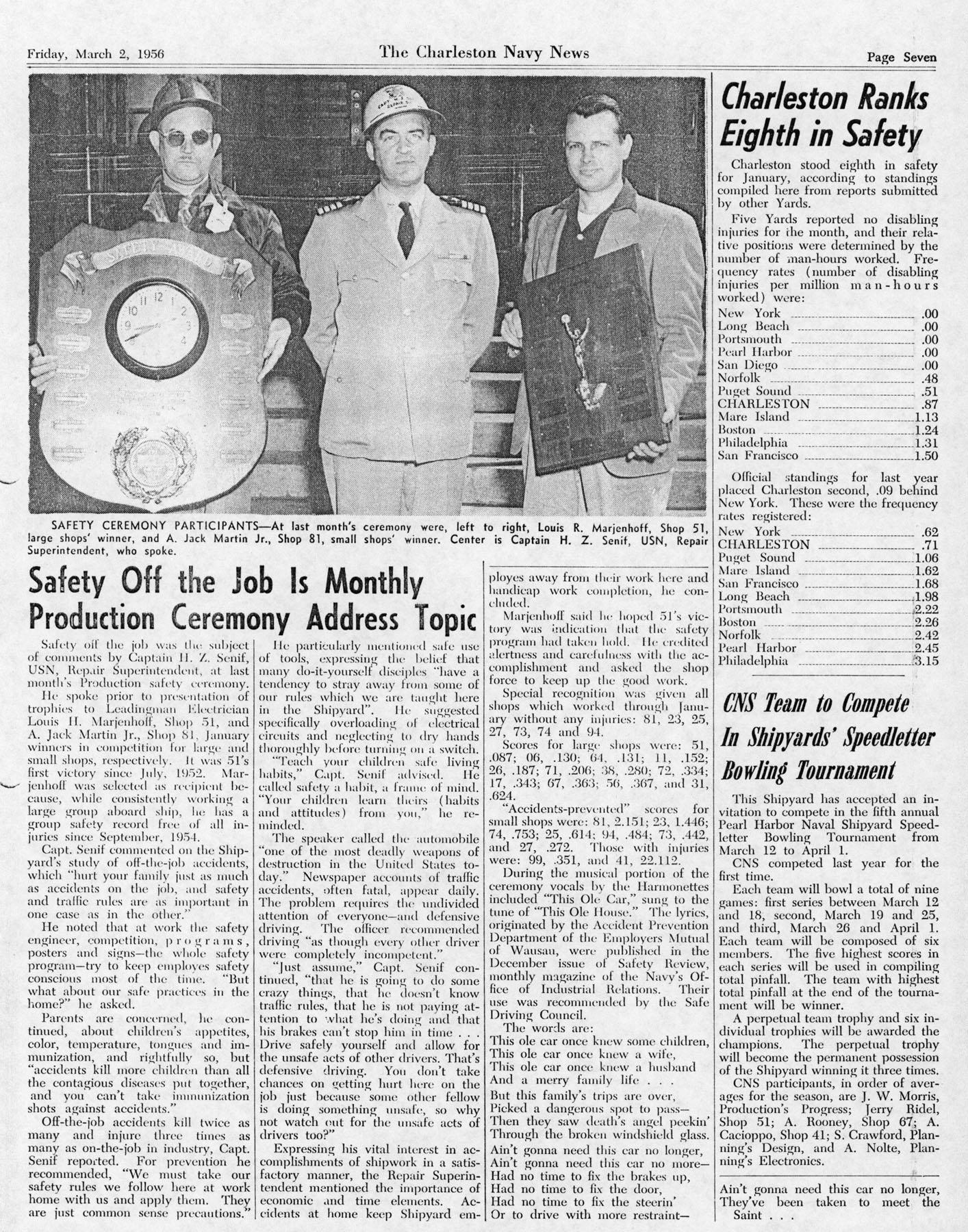 The Charleston Navy News, Volume 14, Edition 16, page vii