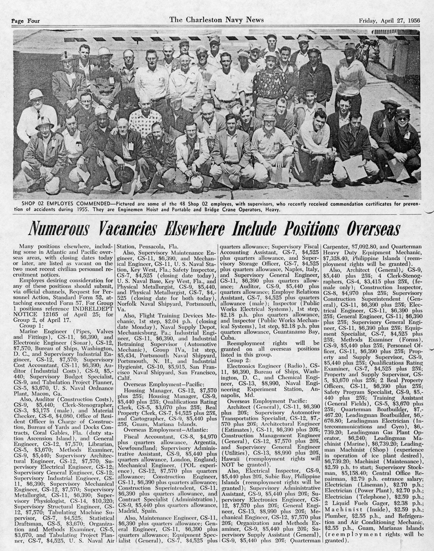 The Charleston Navy News, Volume 14, Edition 20, page iv
