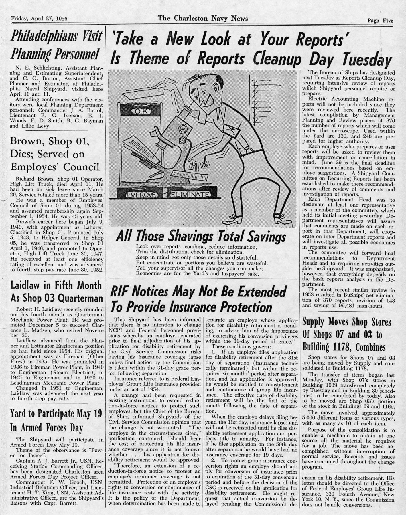 The Charleston Navy News, Volume 14, Edition 20, page v