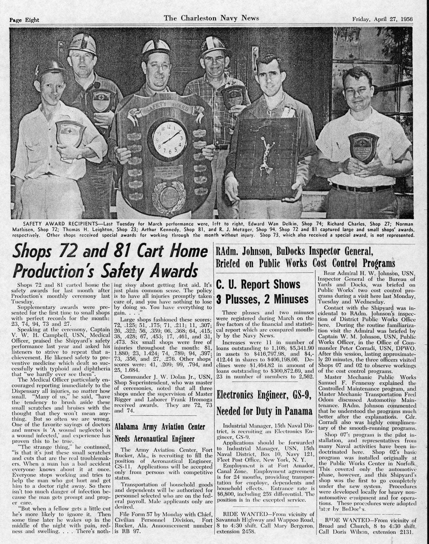 The Charleston Navy News, Volume 14, Edition 20, page viii