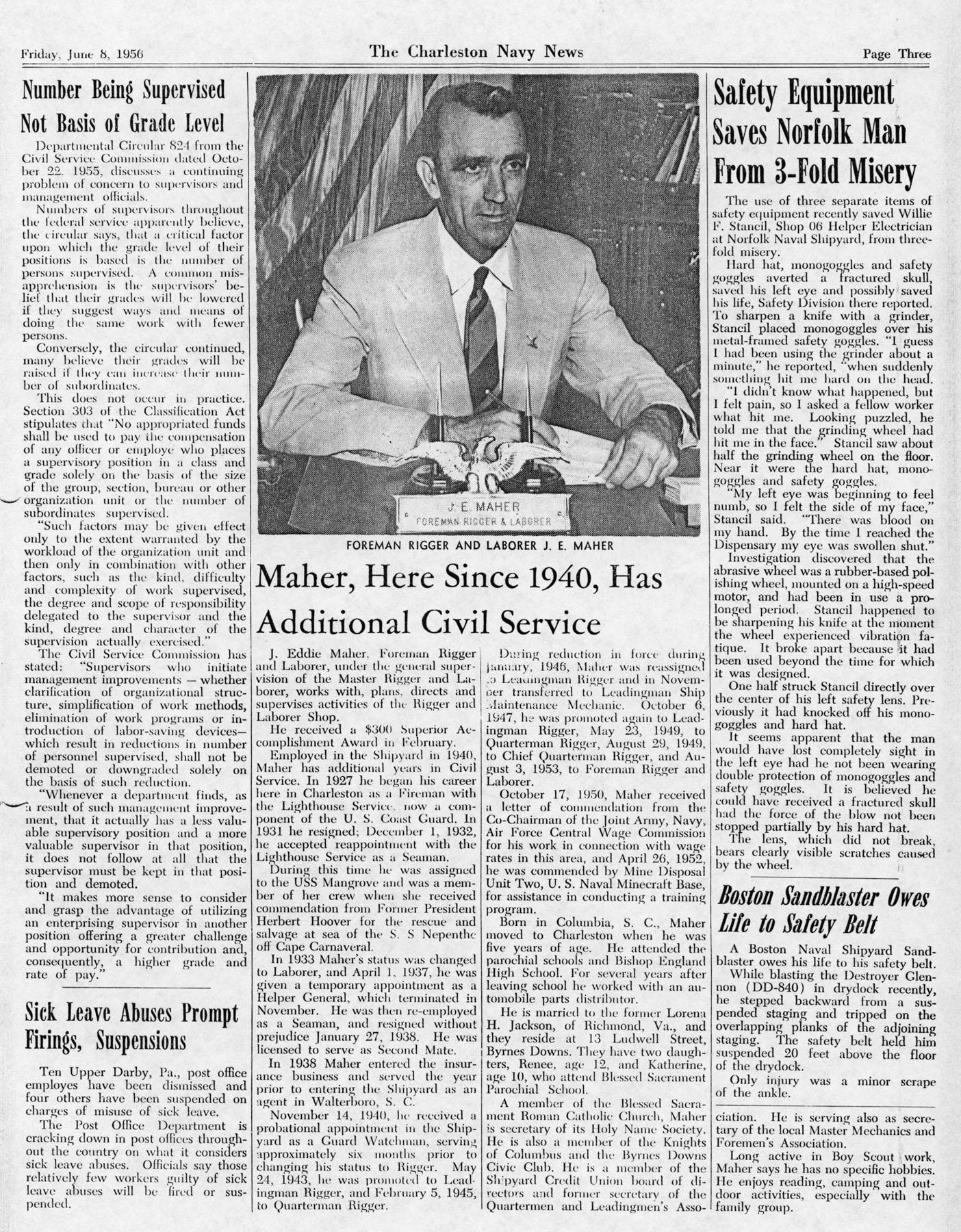 The Charleston Navy News, Volume 14, Edition 23, page iii