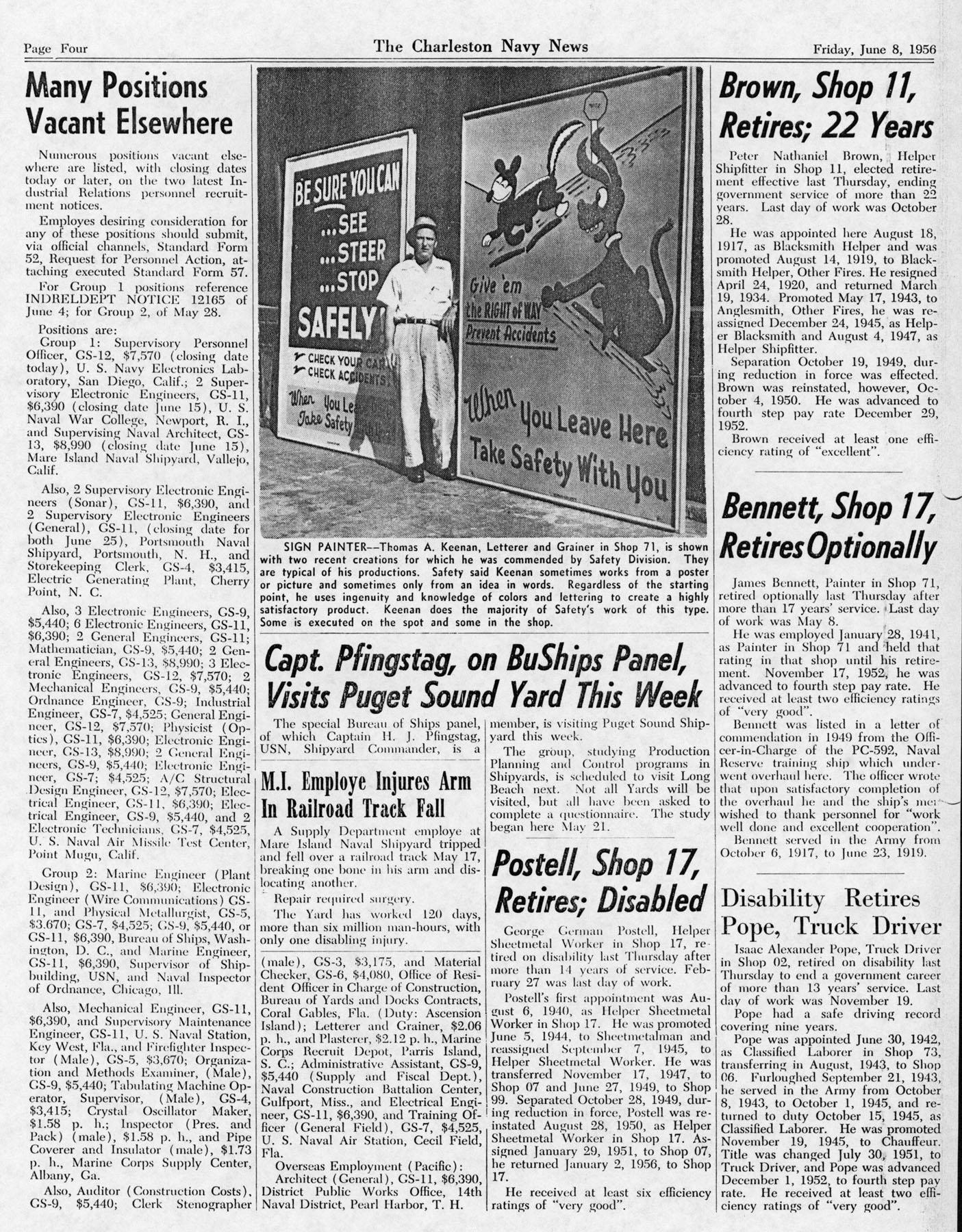 The Charleston Navy News, Volume 14, Edition 23, page iv