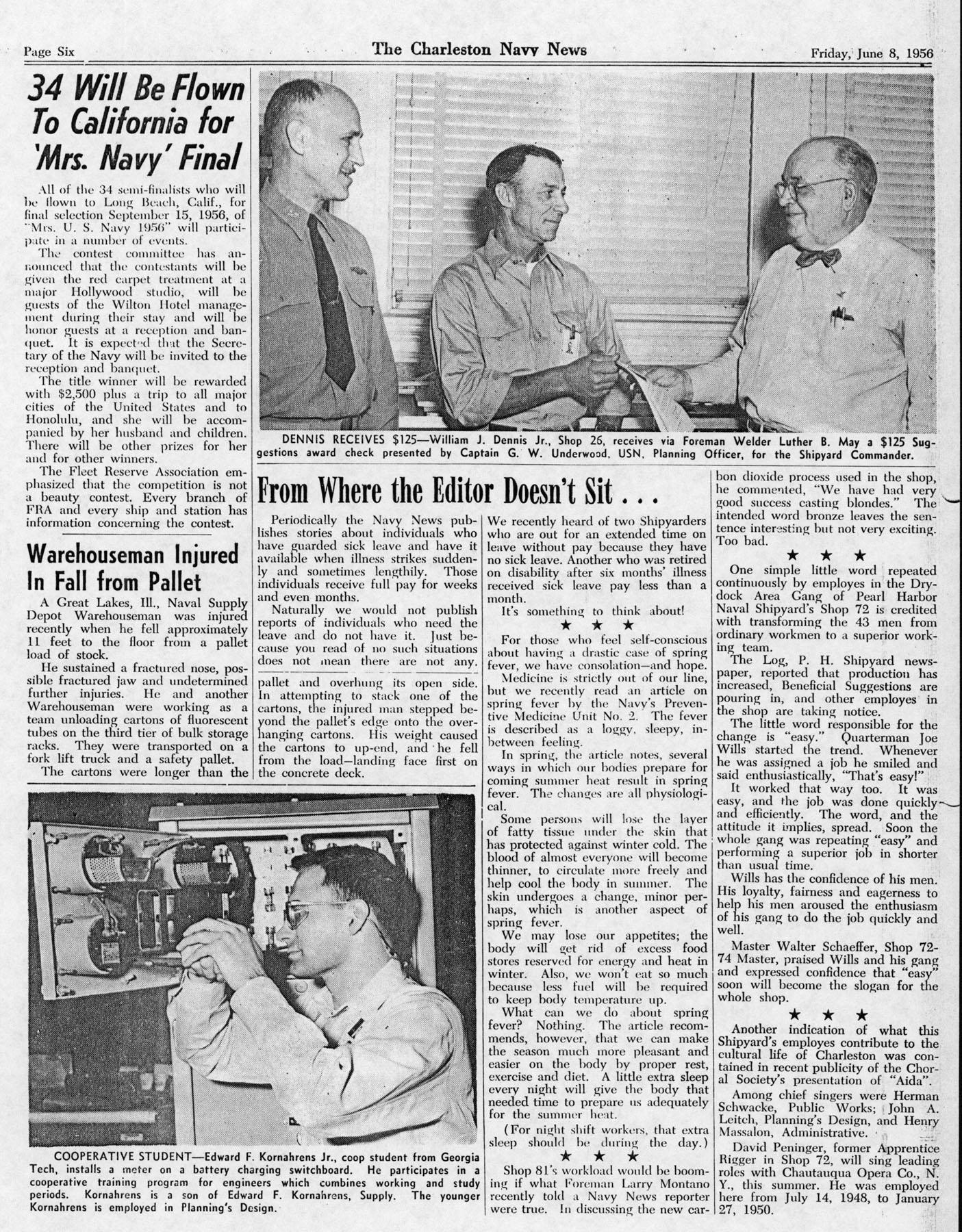 The Charleston Navy News, Volume 14, Edition 23, page vi