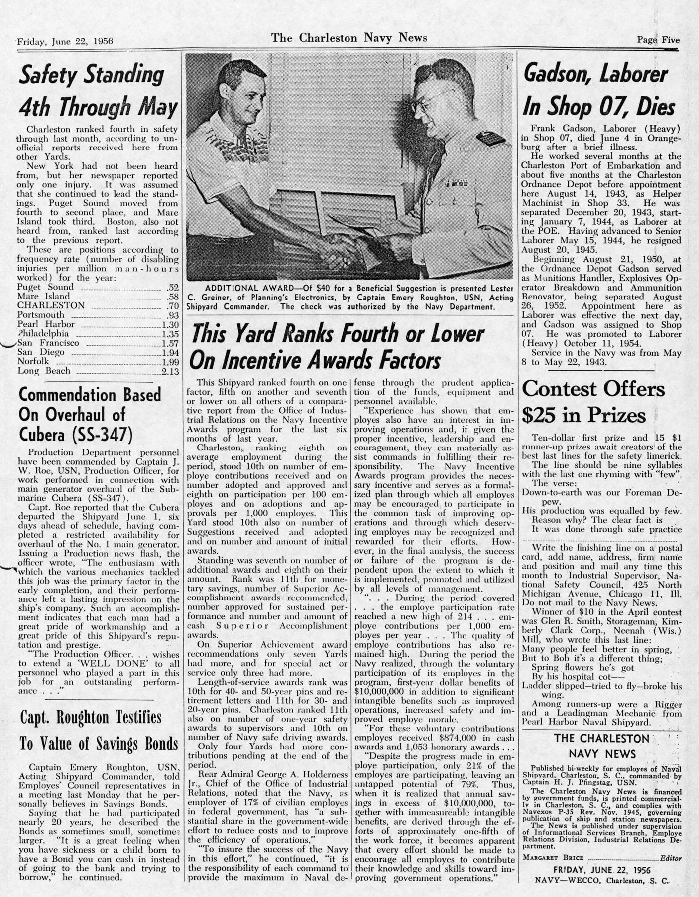 The Charleston Navy News, Volume 14, Edition 24, page v