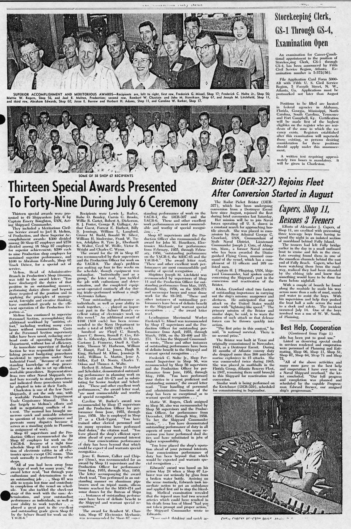 The Charleston Navy News, Volume 15, Edition 1, page iv