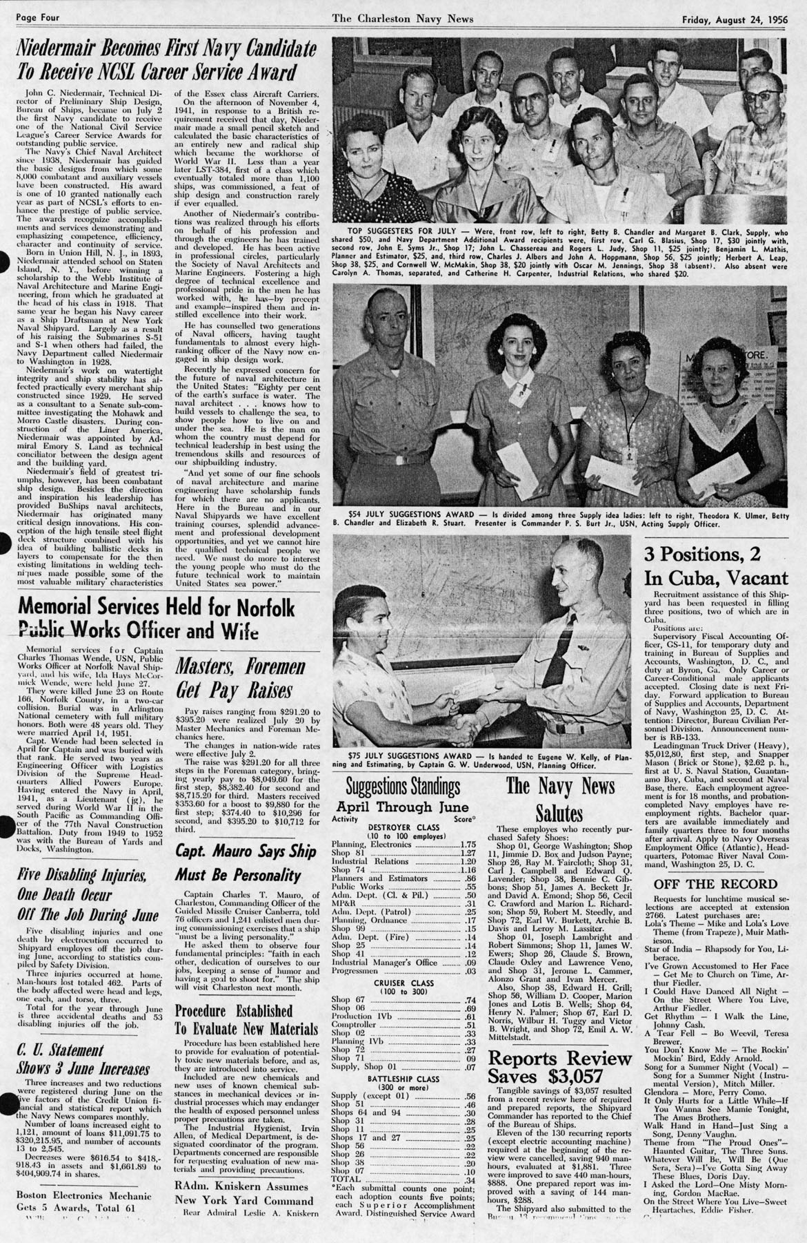 The Charleston Navy News, Volume 15, Edition 3, page iv