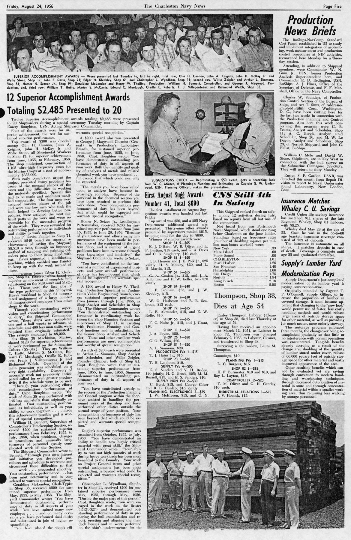 The Charleston Navy News, Volume 15, Edition 3, page v