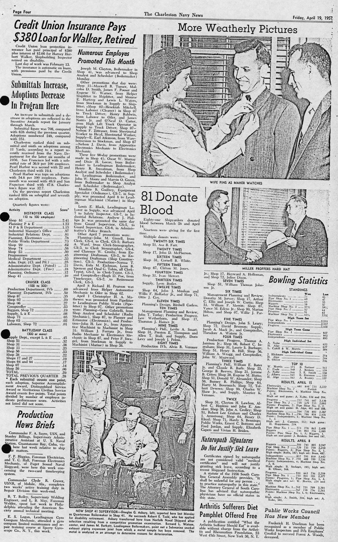 The Charleston Navy News, Volume 15, Edition 20, page iv