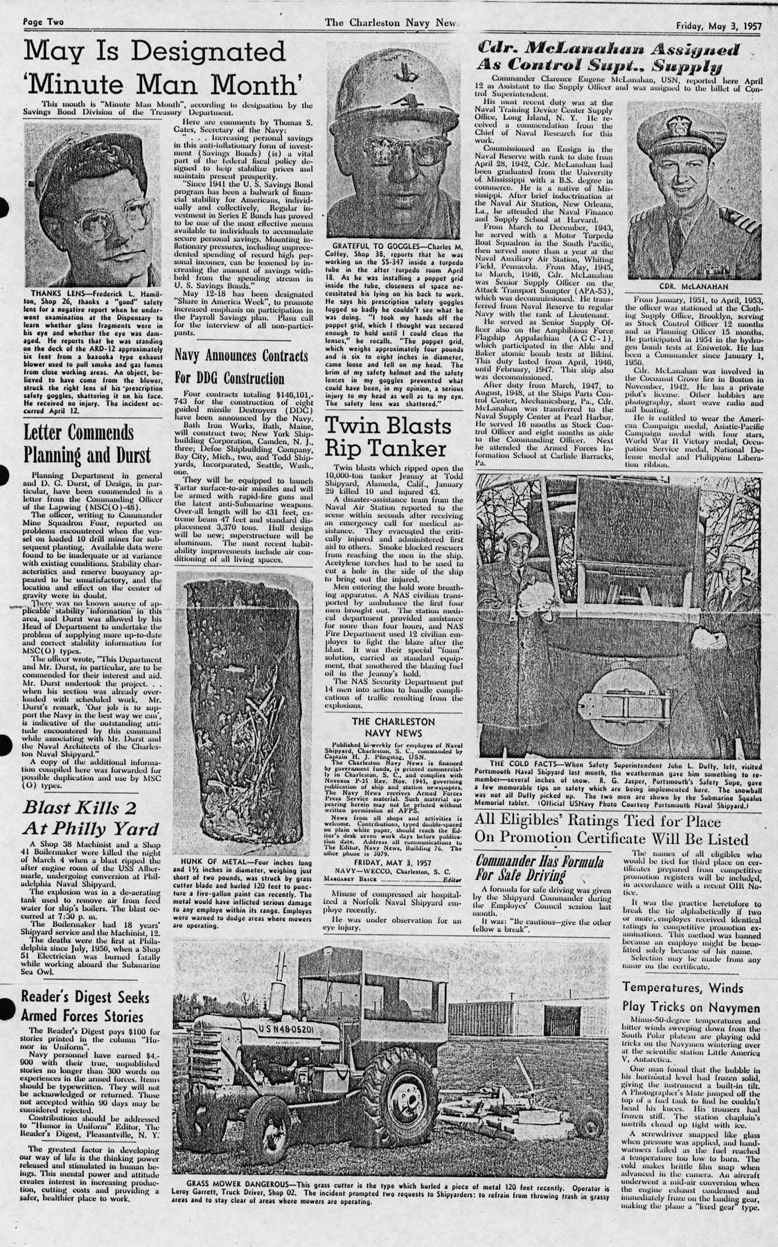 The Charleston Navy News, Volume 15, Edition 21, page ii